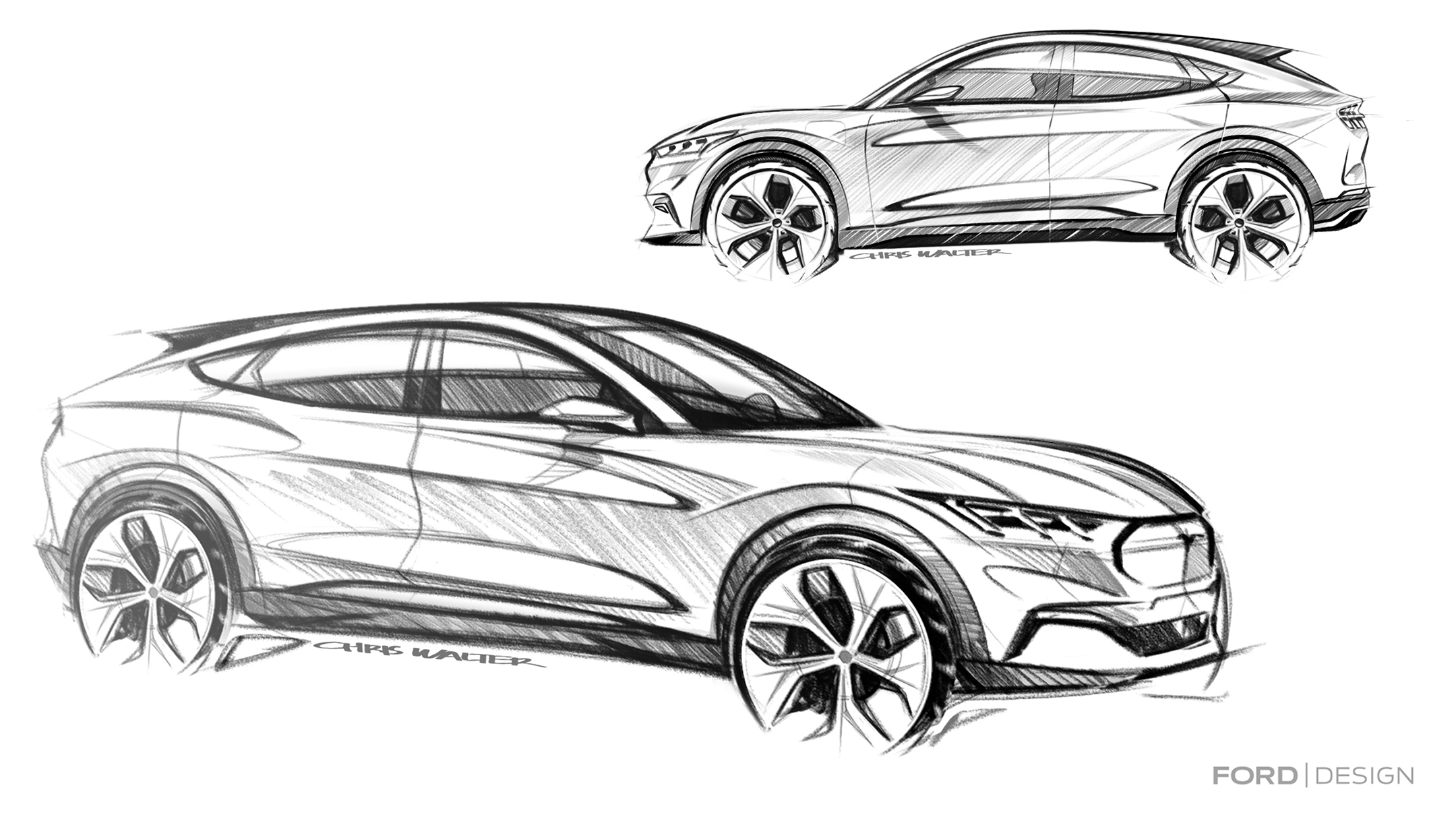 Ford Mustang Mach-E - 2019 - design sketch