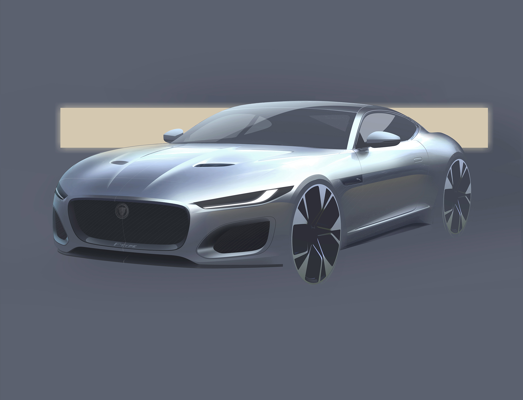 Jaguar F-TYPE - 2019 - design sketch - front / avant