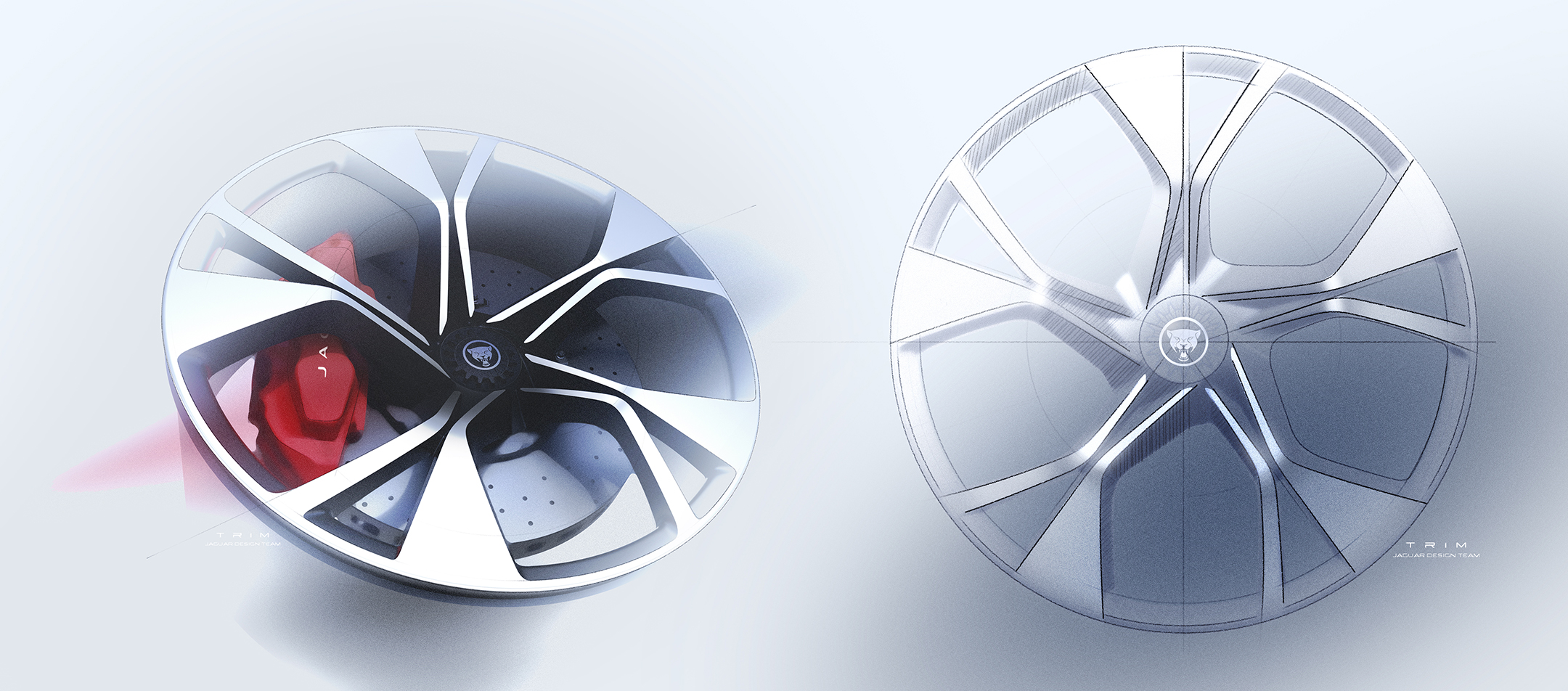 Jaguar F-TYPE - 2019 - design sketch - wheel / jante