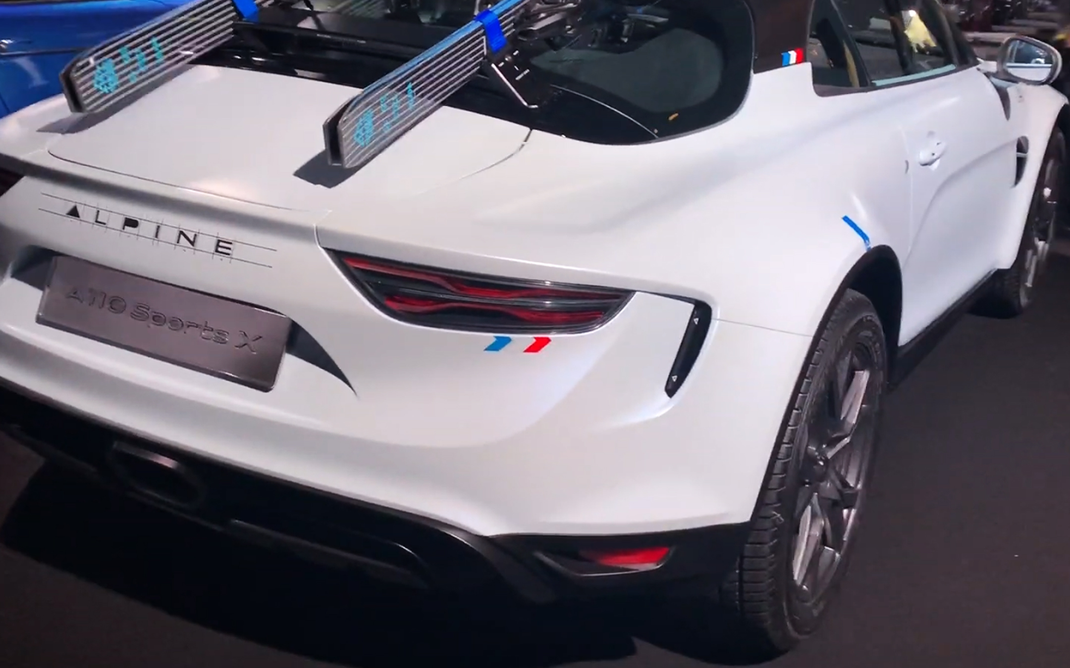 Alpine A110 Sports X - 2020 - rear light - preview - showcar - photo screen video - FAI2020