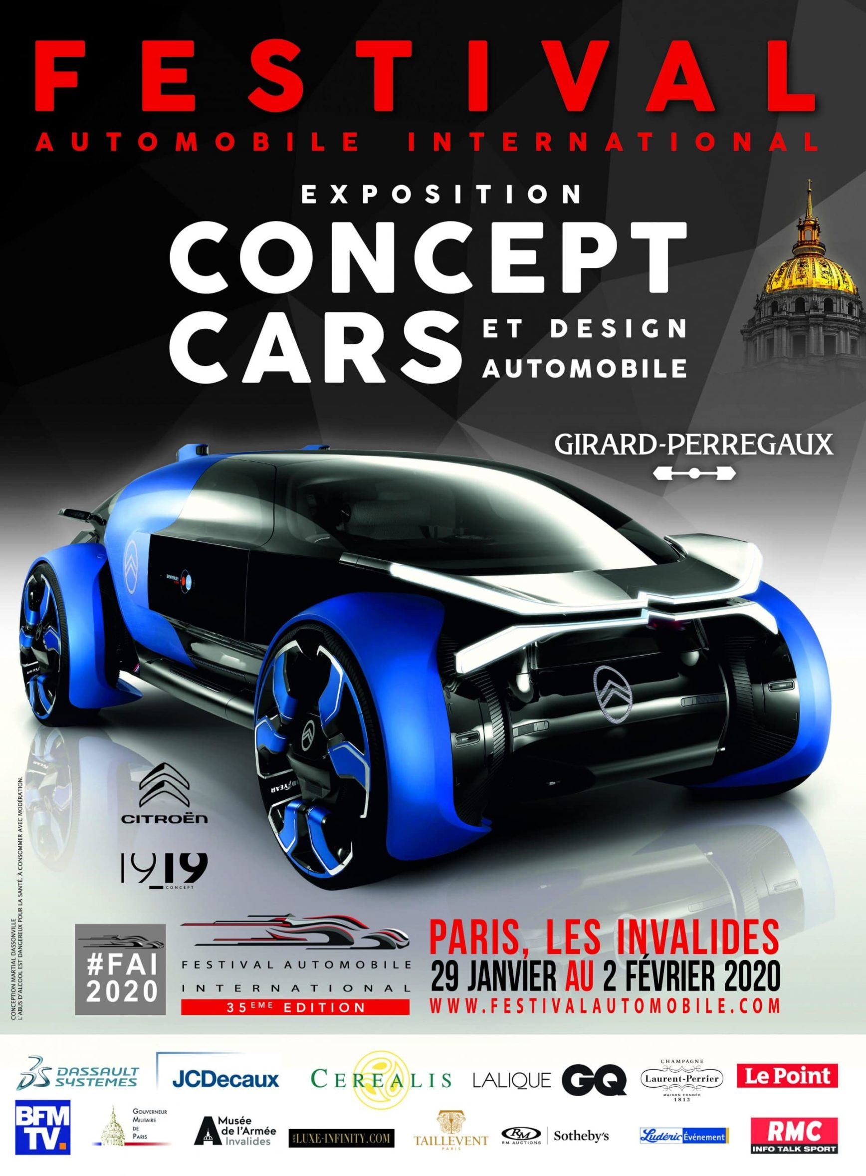 Festival Automobile International 2020 - exposition Concept Cars - Design Automobile - poster