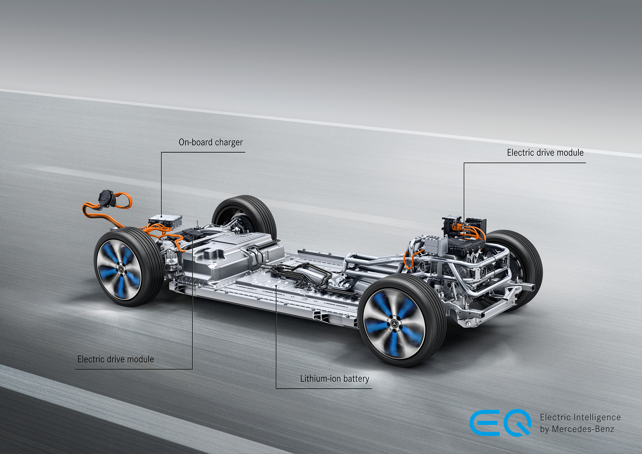 Mercedes-Benz EQC - 2019 - 2x electro motors - powertrain - 300 kW - 765 Nm