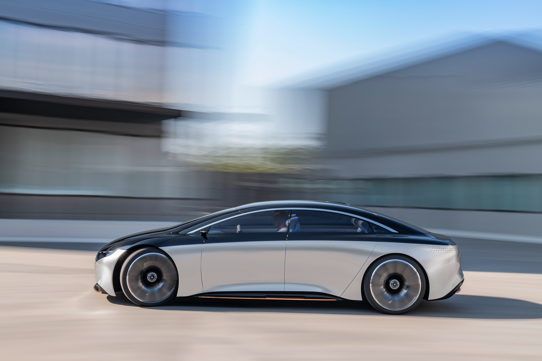Mercedes-Benz Vision EQS show car - 2020 - side-face / profil