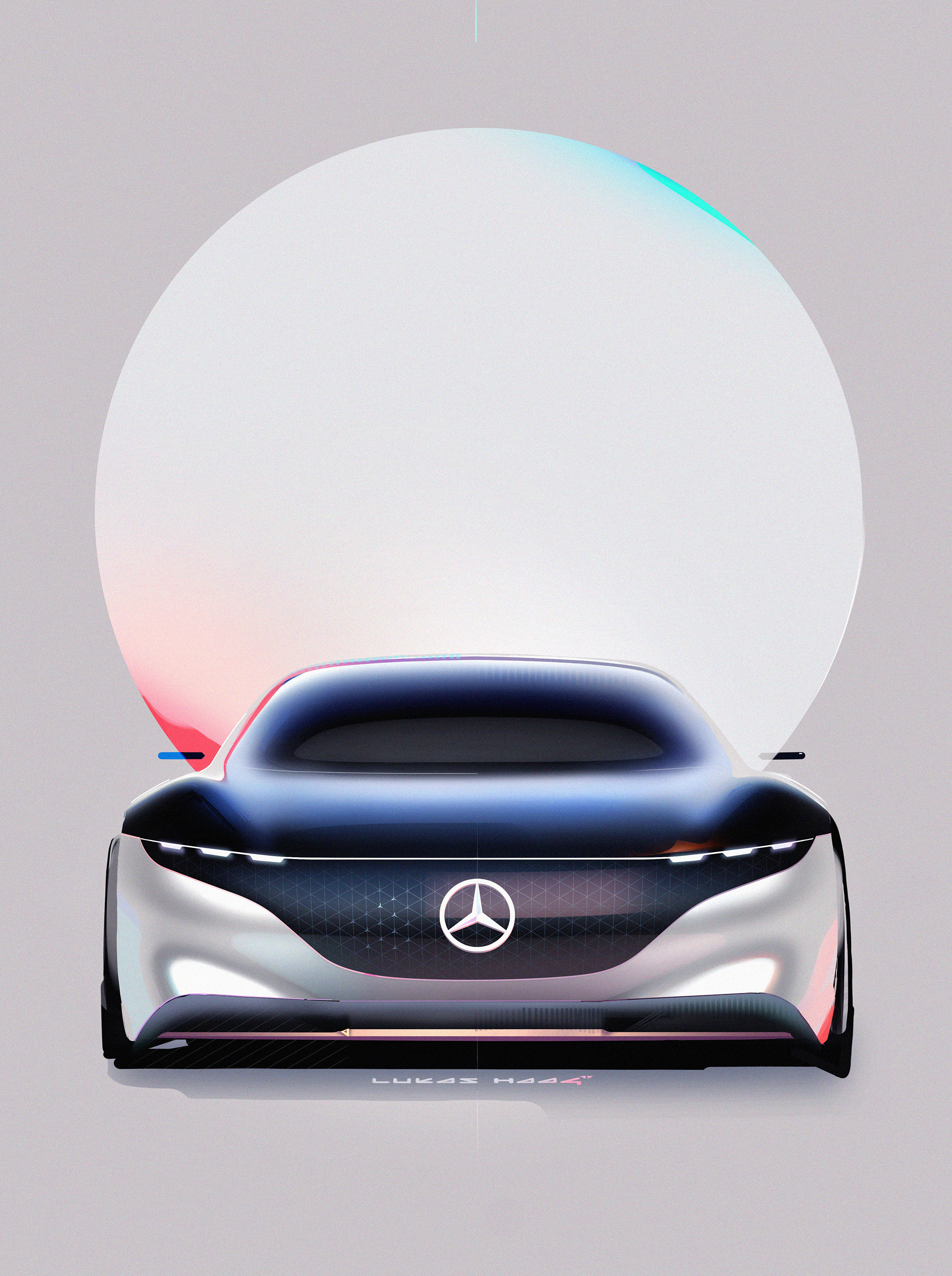Mercedes-Benz Vision EQS show car - 2020 - sketch - front-face / face avant