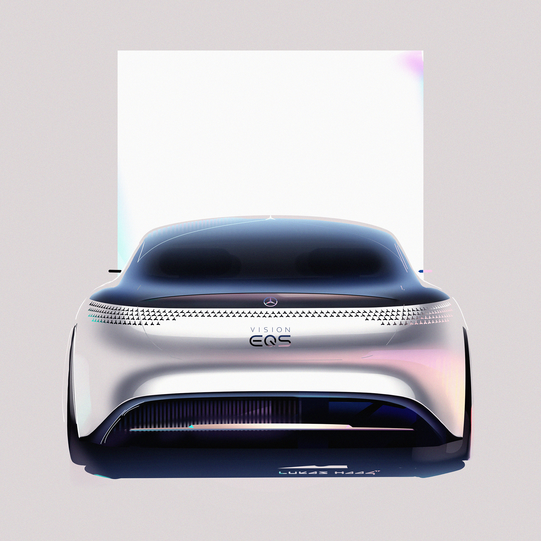 Mercedes-Benz Vision EQS show car - 2020 - sketch - rear-face / face arrière