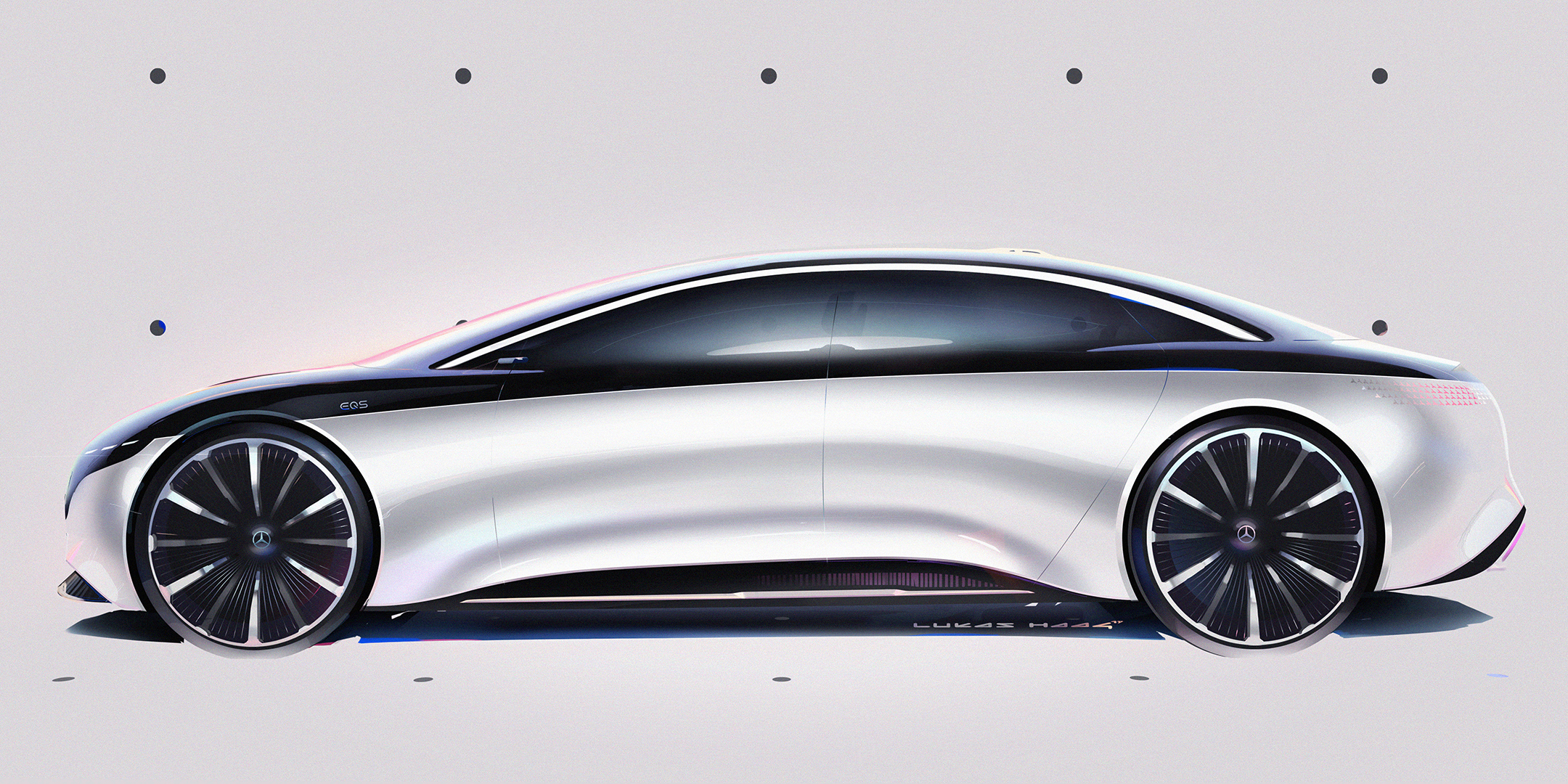 Mercedes-Benz Vision EQS show car - 2020 - sketch - side-face / profil