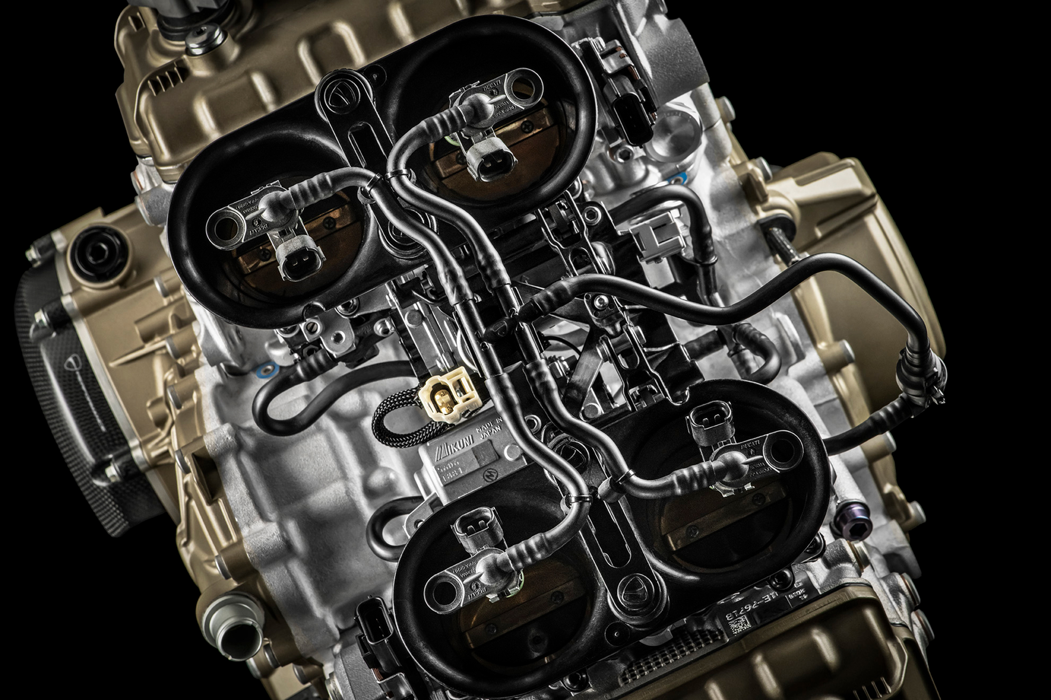 Ducati Superleggera V4 - 2020 - engine / moteur - Desmosedici V4 998cc - part top view