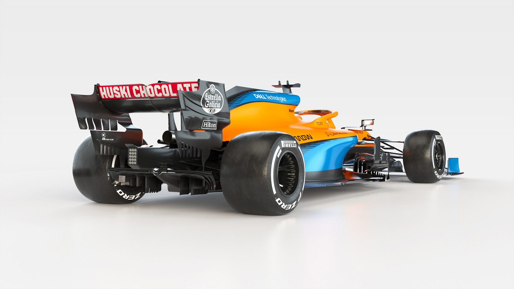 F1 - McLaren Racing - MCL35 - 2020 - rear side-face - Renault E-Tech 20 - 35A engine - McLaren Applied Technologies