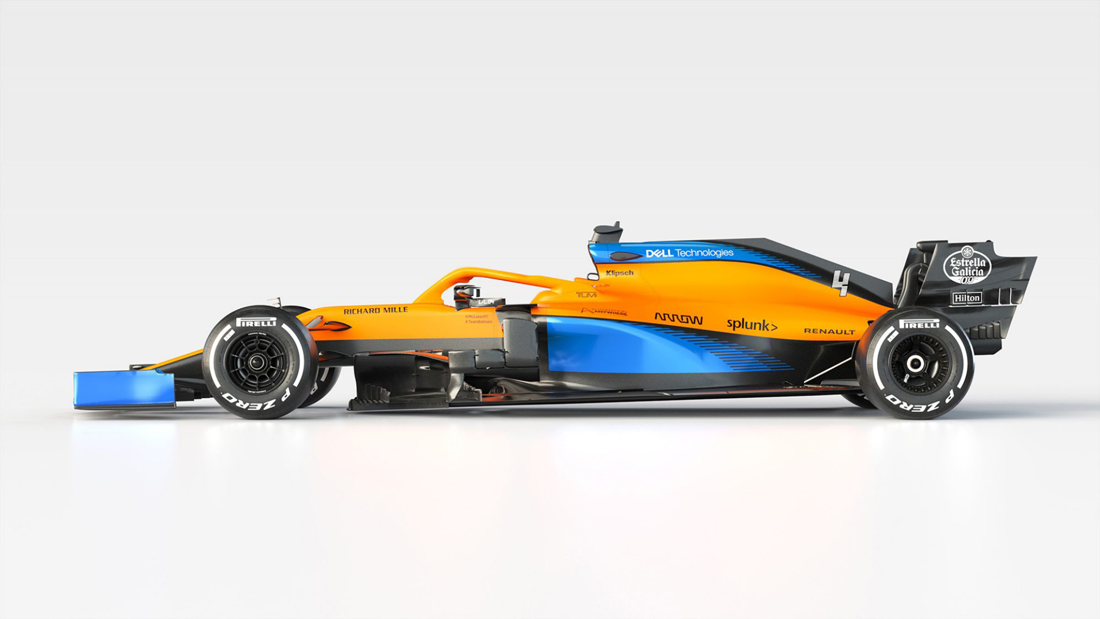 F1 - McLaren Racing - MCL35 - 2020 - side-face - Renault E-Tech 20 - 35A engine - McLaren Applied Technologies