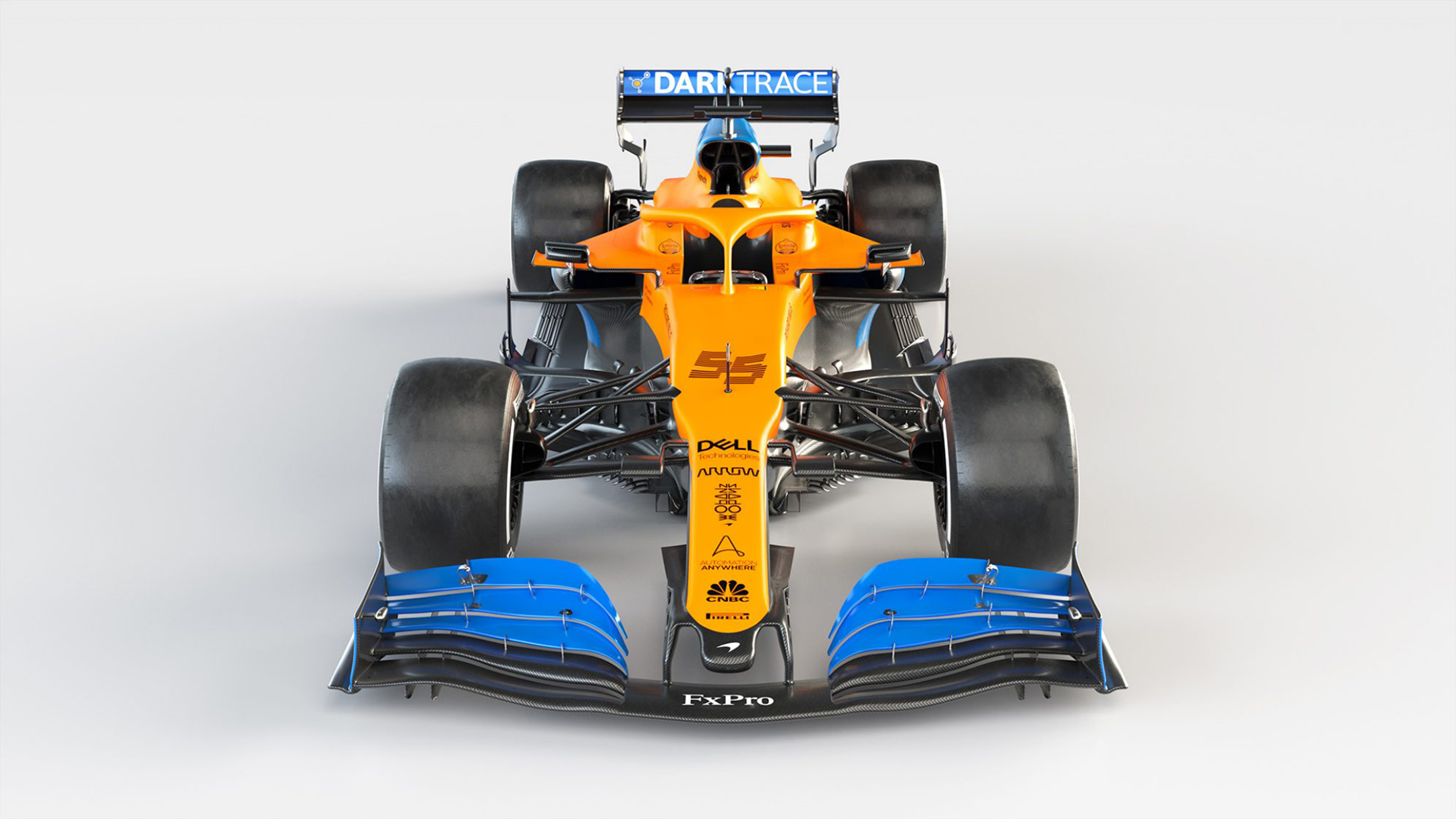 F1 - McLaren Racing - MCL35 - 2020 - top front-face - Renault E-Tech 20 - 35A engine - McLaren Applied Technologies