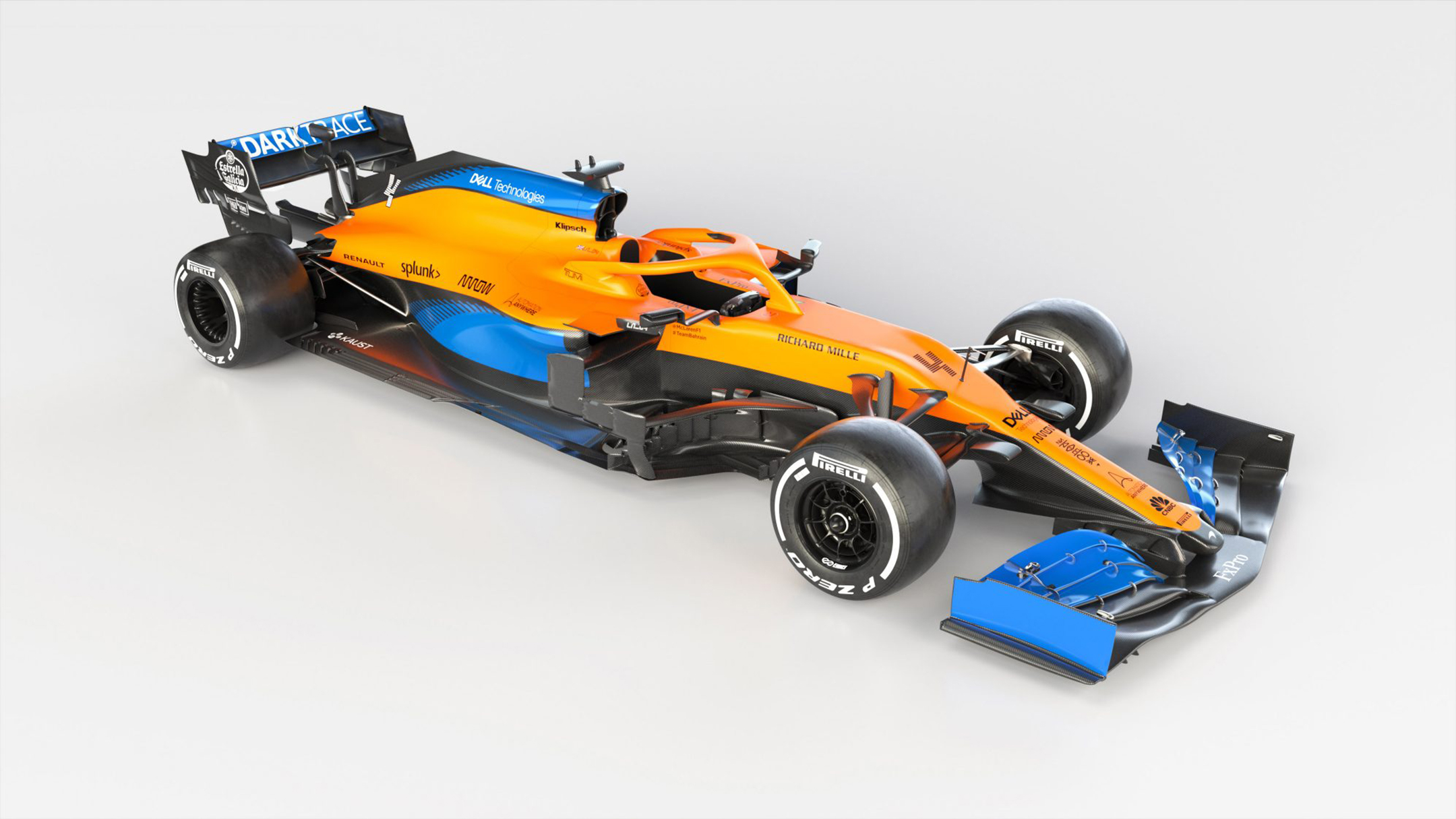 F1 - McLaren Racing - MCL35 - 2020 - front side-face - Renault E-Tech 20 - 35A engine - McLaren Applied Technologies