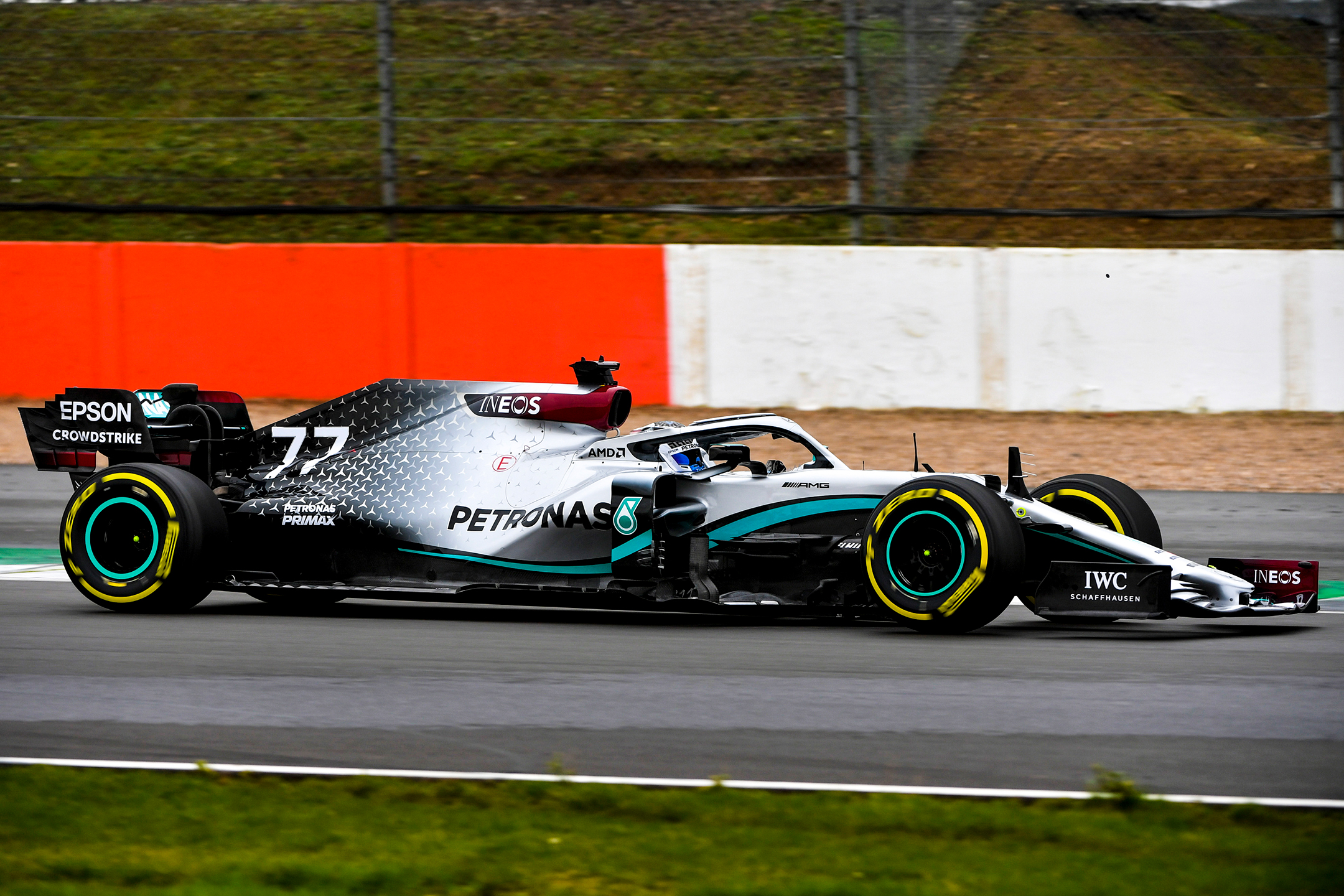F1 - Mercedes-AMG - W11 - 2020 - side-face - on track - Silverstone