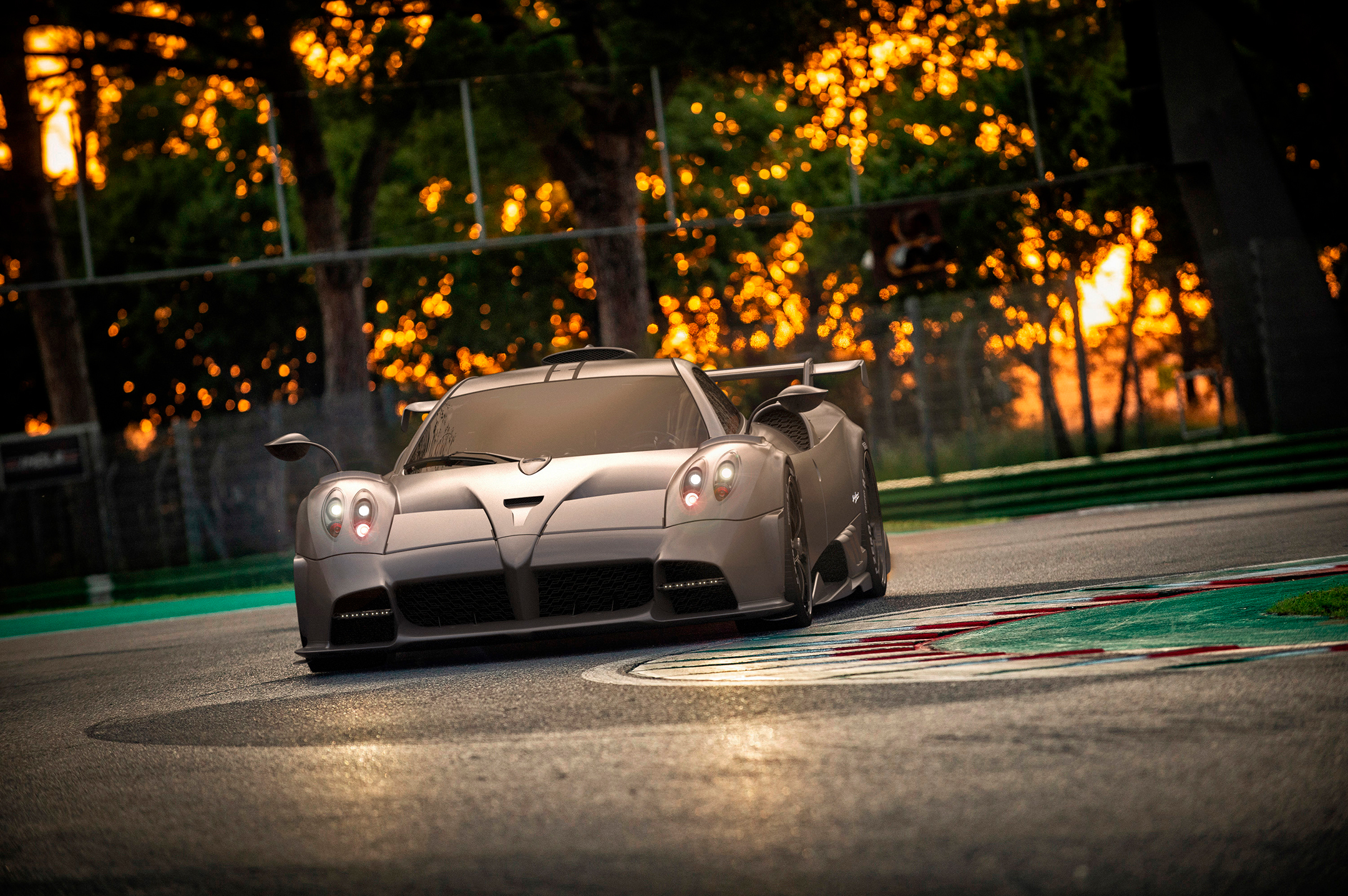 Pagani Imola - 2020 - front-face / face avant - on track / sur circuit / in pista