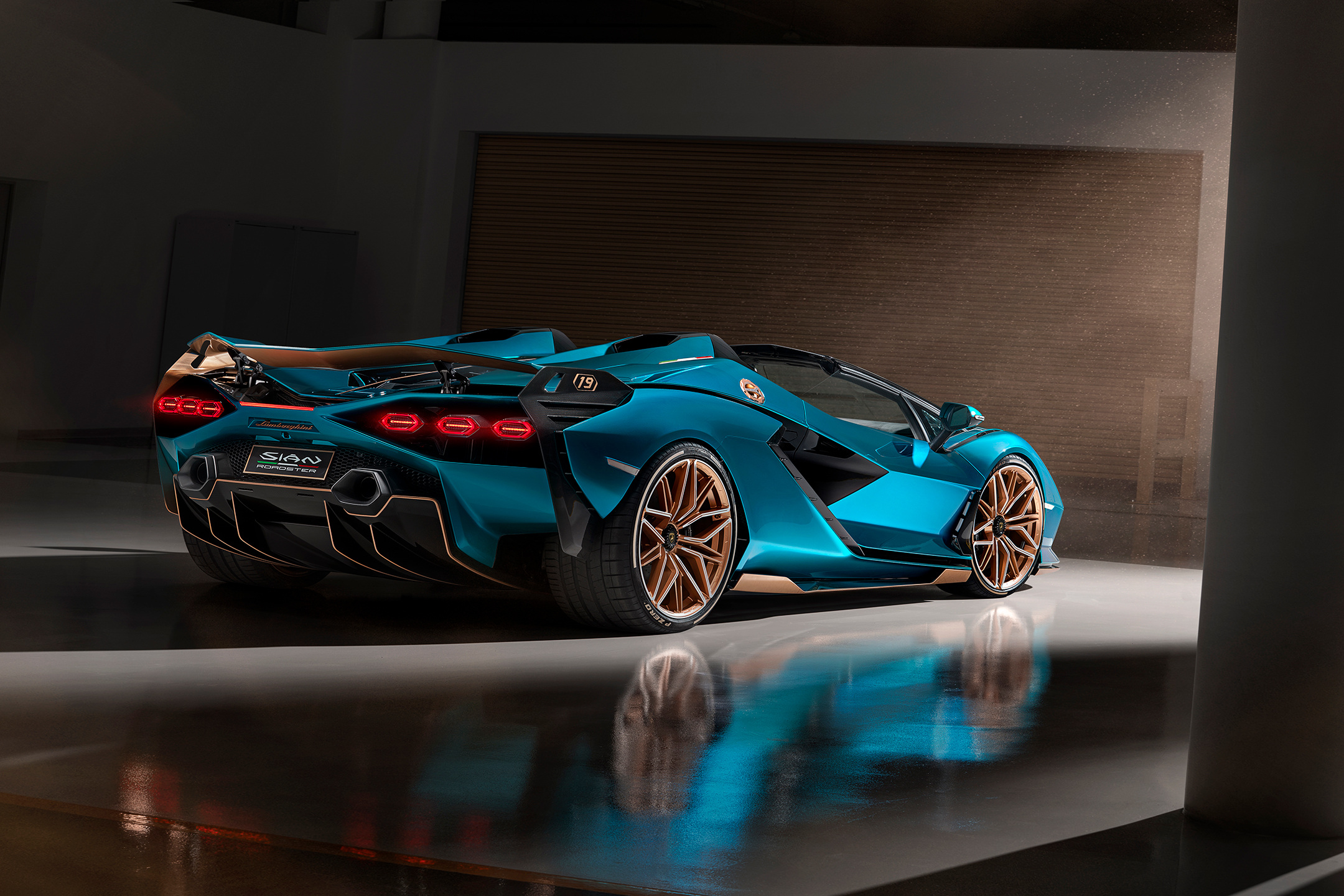 Lamborghini Sián Roadster - 2020 - rear side-face / profil arrière