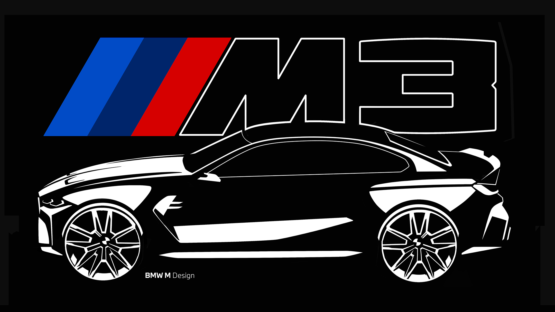 BMW M3 - 2020 - design sketch - side-face / profil