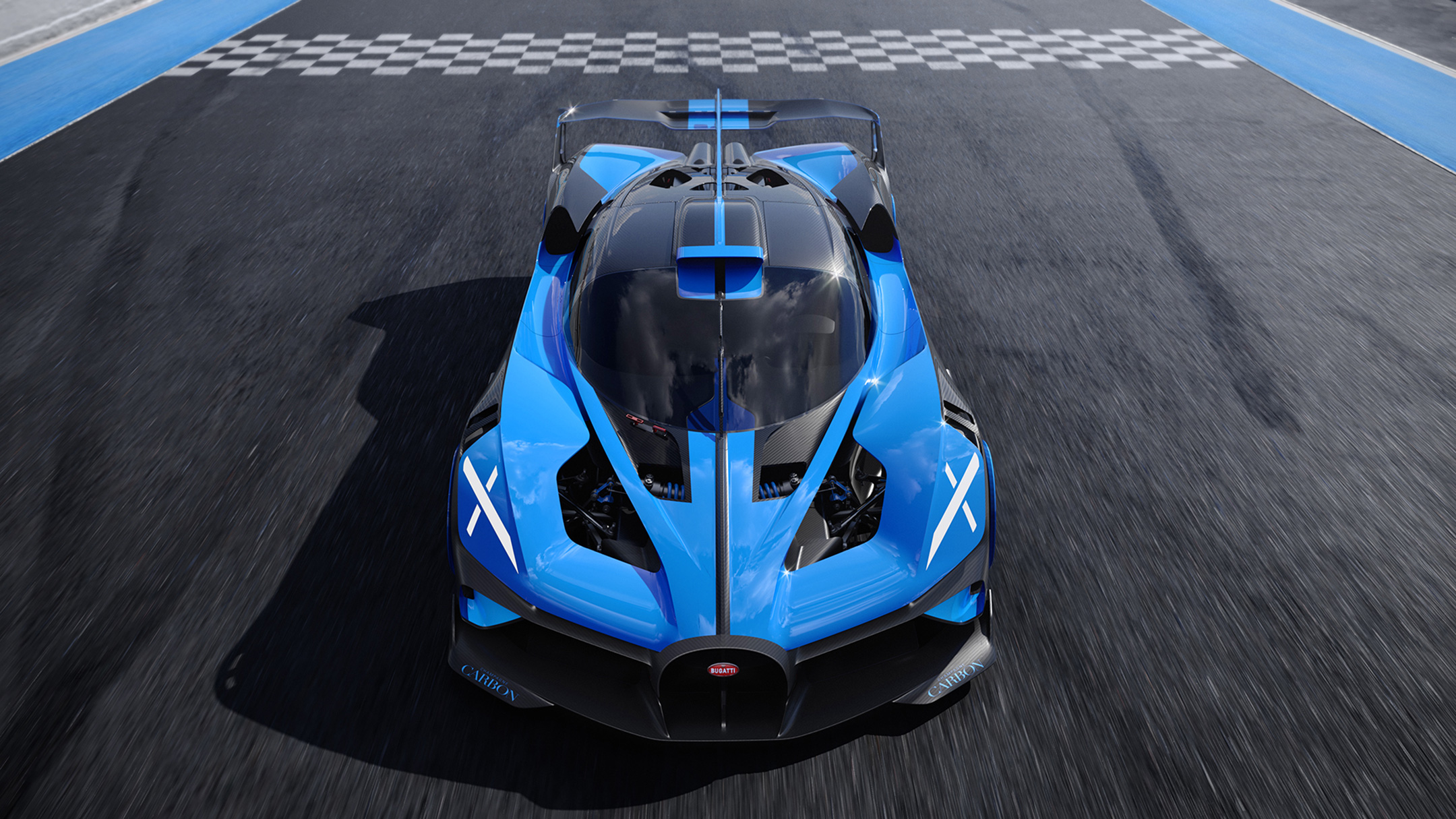 Bugatti Bolide - 2020 - top - front-face / face avant - on track / sur circuit