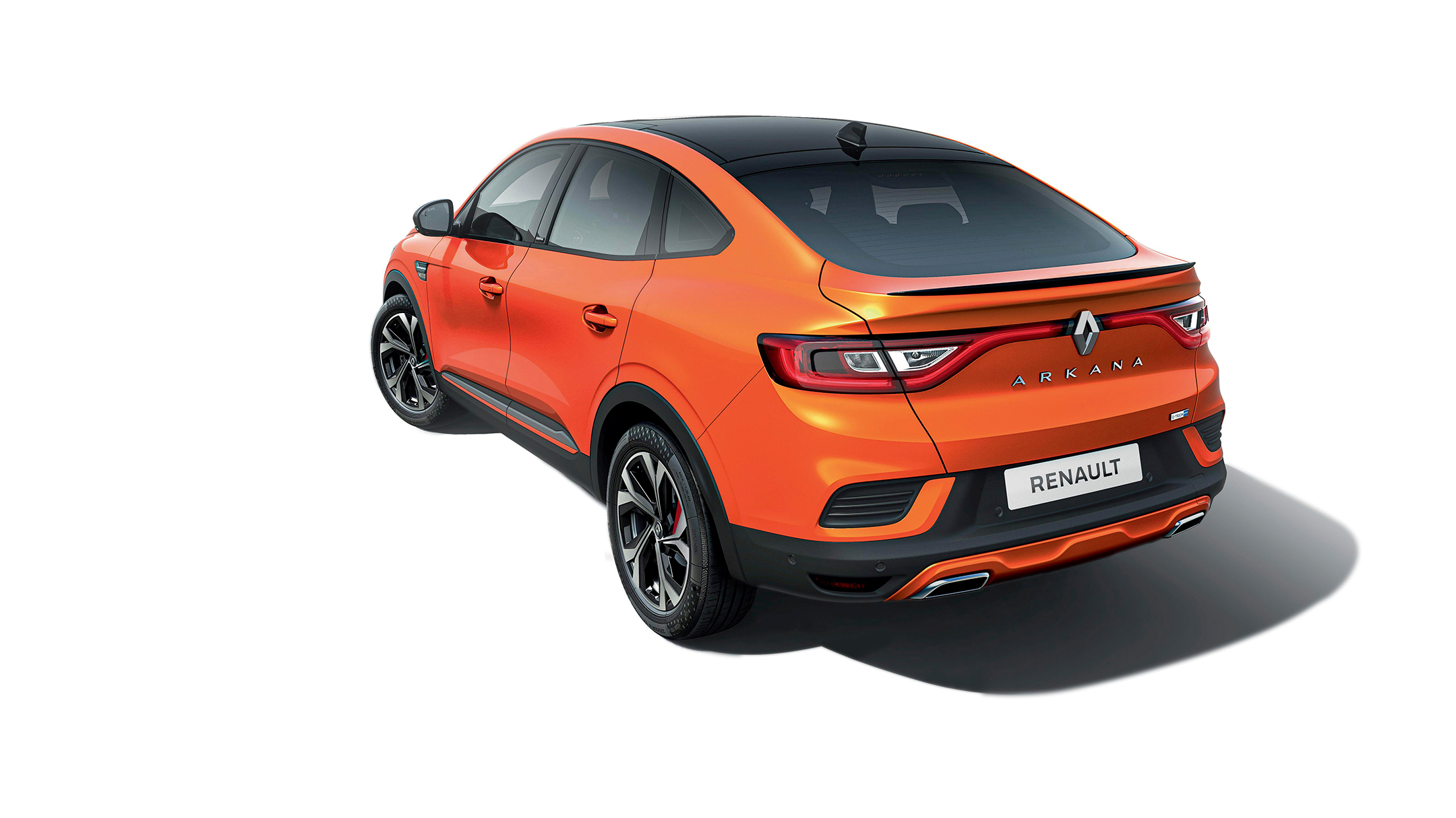 Renault Arkana R.S. Line E-TECH Hybrid - 2020 - top view - roof / toit - rear side-face / profil arrière