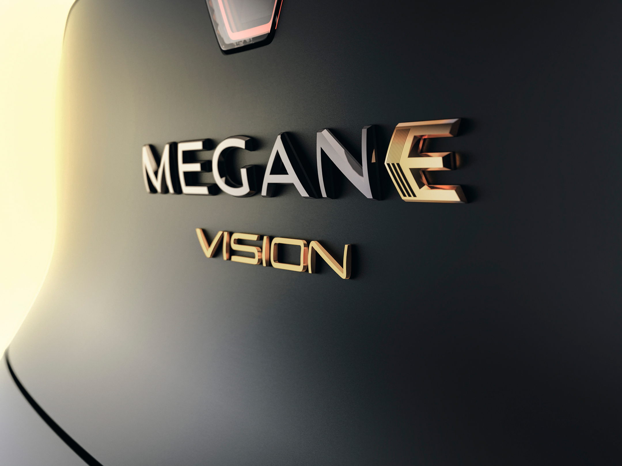 Renault Mégane eVision show-car - 2020 - model sign / signature modèle