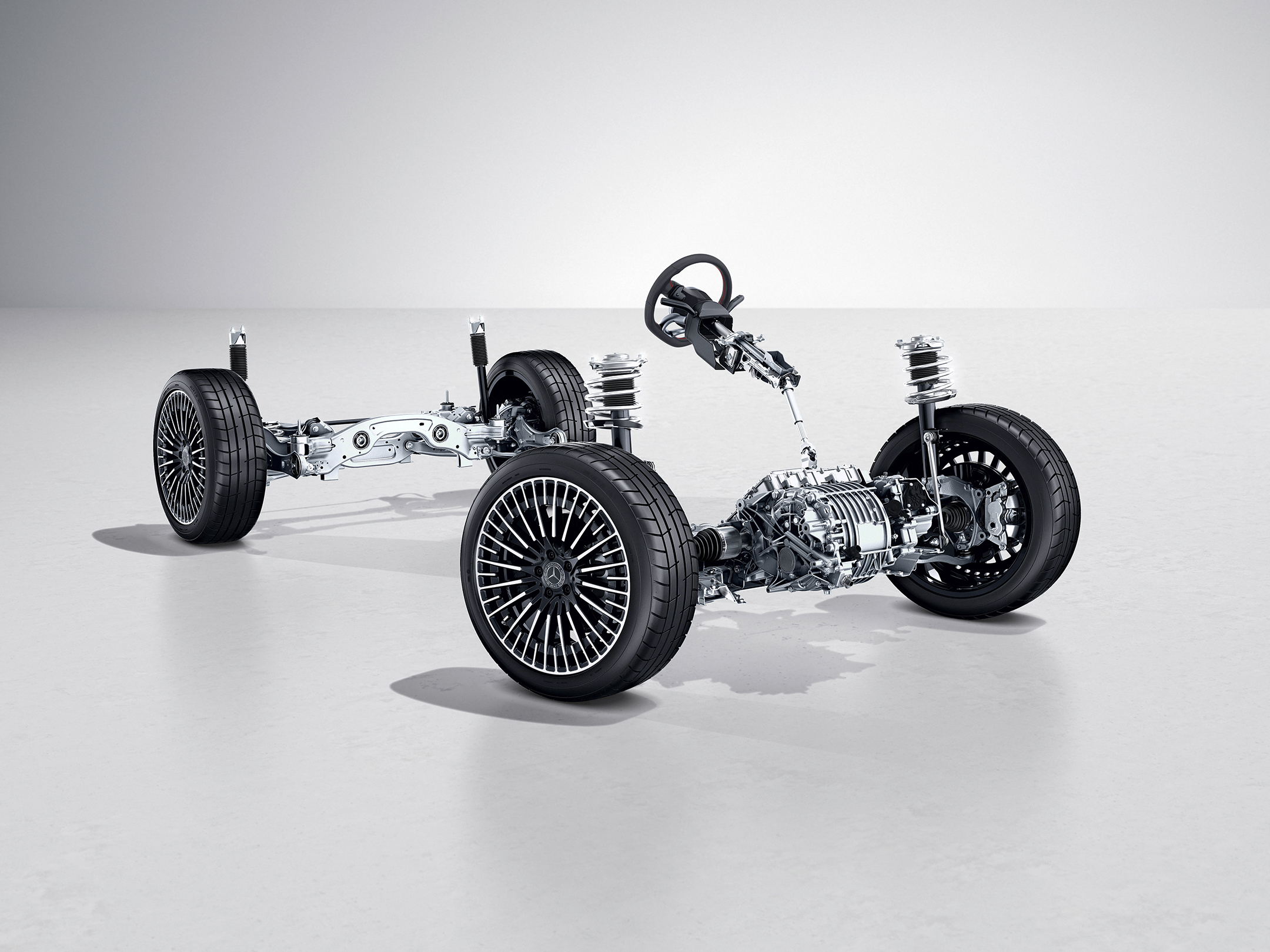 Mercedes EQA 250 AMG Line - 2021 - chassis / châssis - suspension / suspension - steering / volant