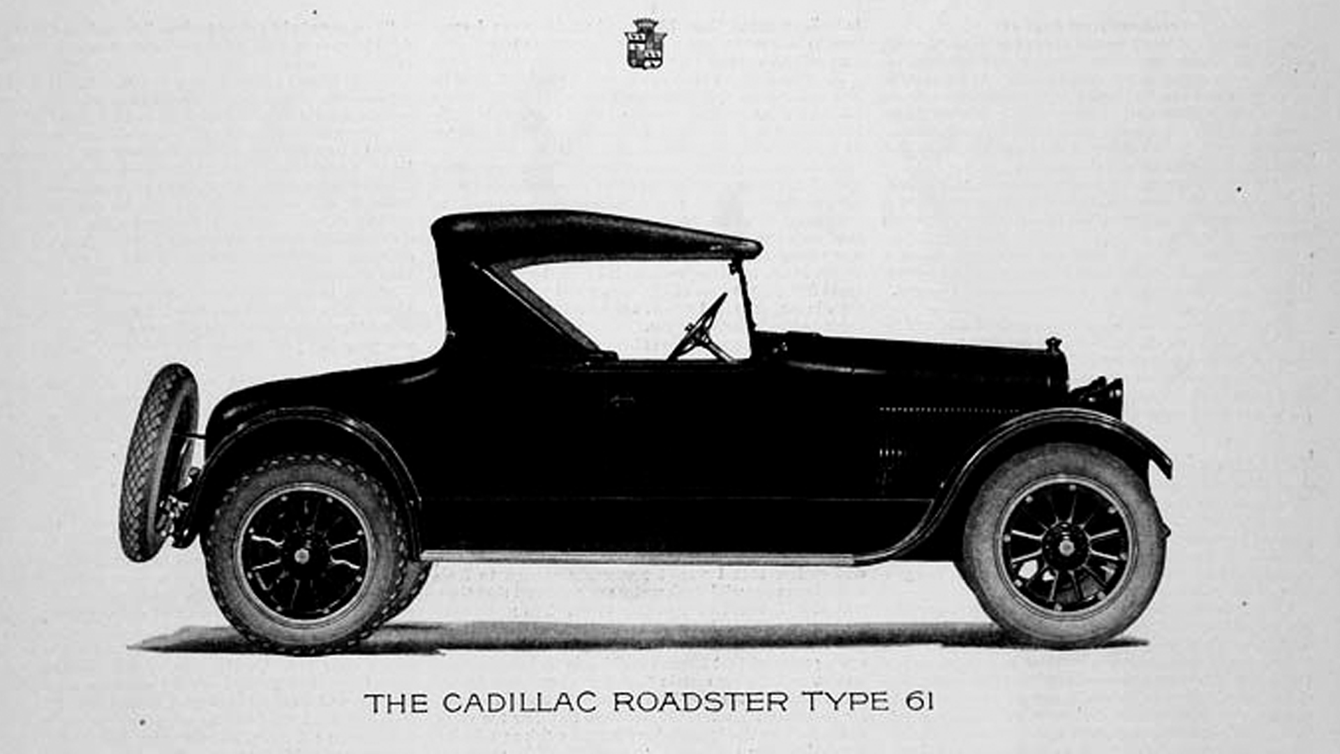 Cadillac Roadster Type 61 model - 1921 - Saturday Evening Post via Old Car Advertising website