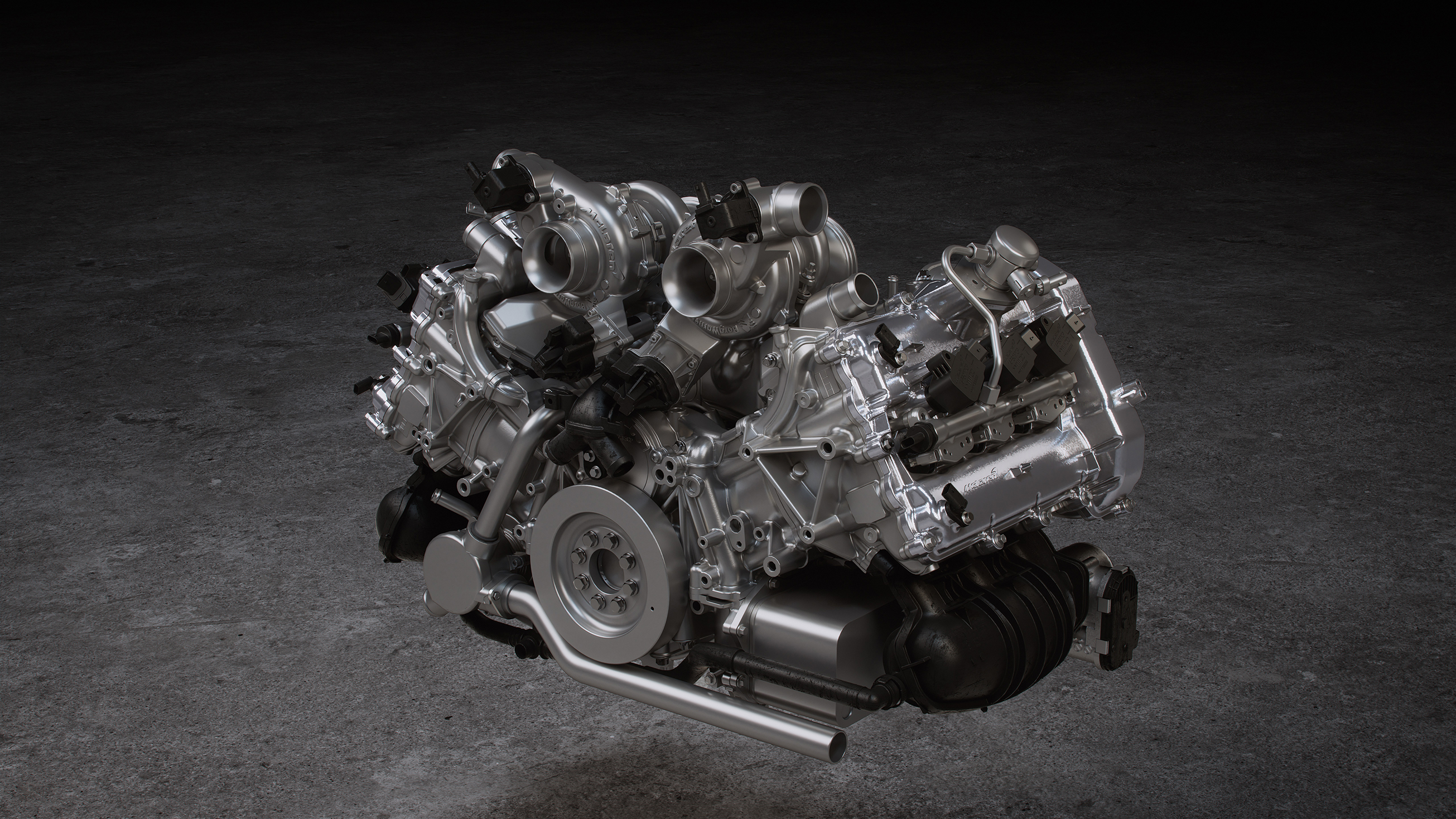 McLaren Artura - 2021 - engine / moteur - M630 V6 3.0L Twin Electrically-Actuated Turbochargers