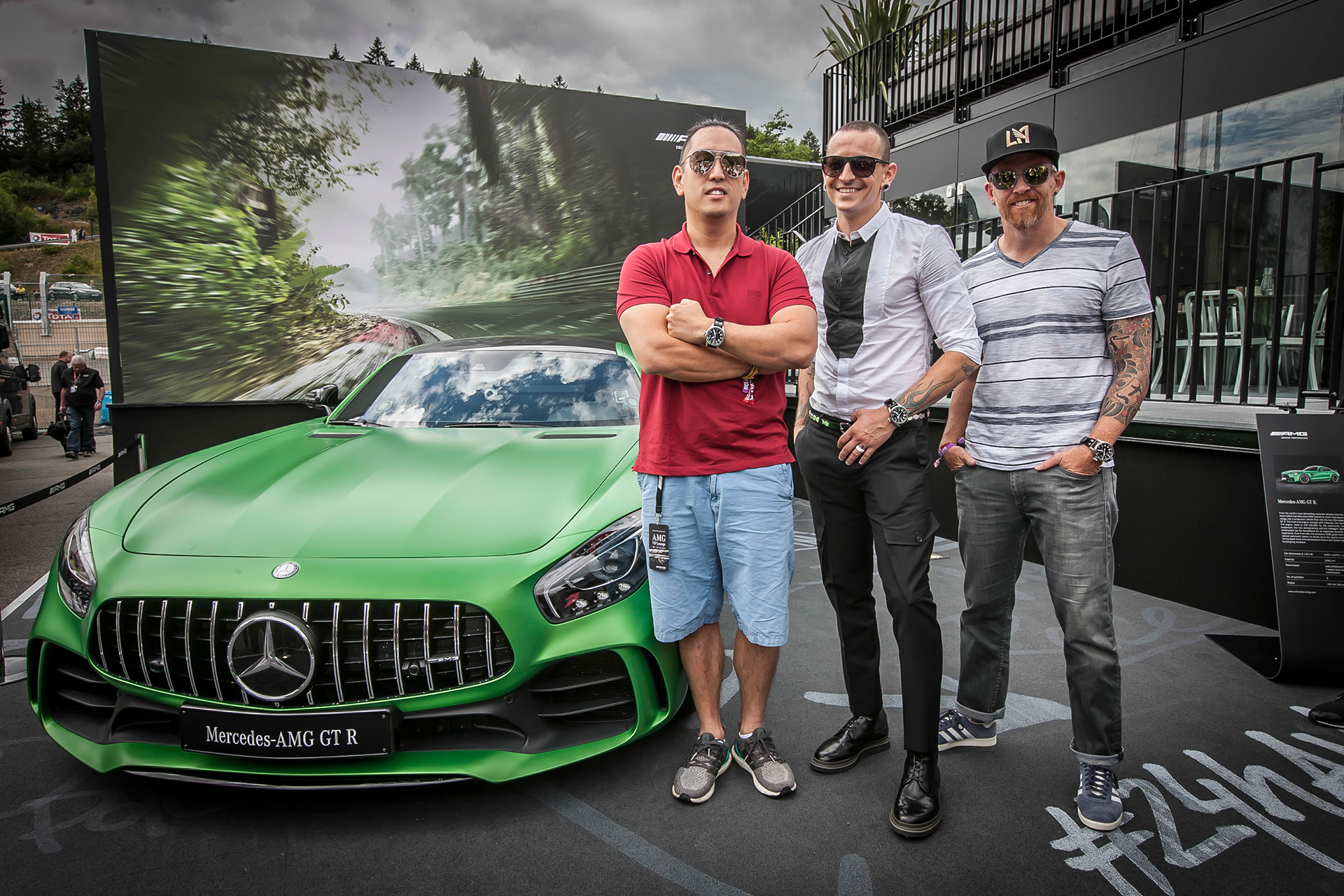 Mercedes-AMG GT S - Team Linkin Park - Dave F - Mr Hahn - Chester - 24 hours race Spa 2016 - Photo Daimler AG