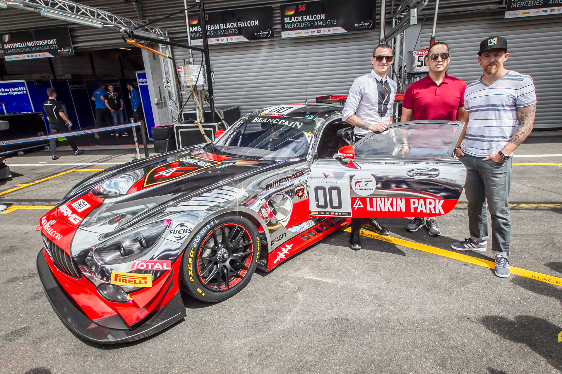 AMG GT3 - Team Linkin Park - Dave F - Mr Hahn - Chester - 24 hours race Spa 2016 - Photo Daimler AG