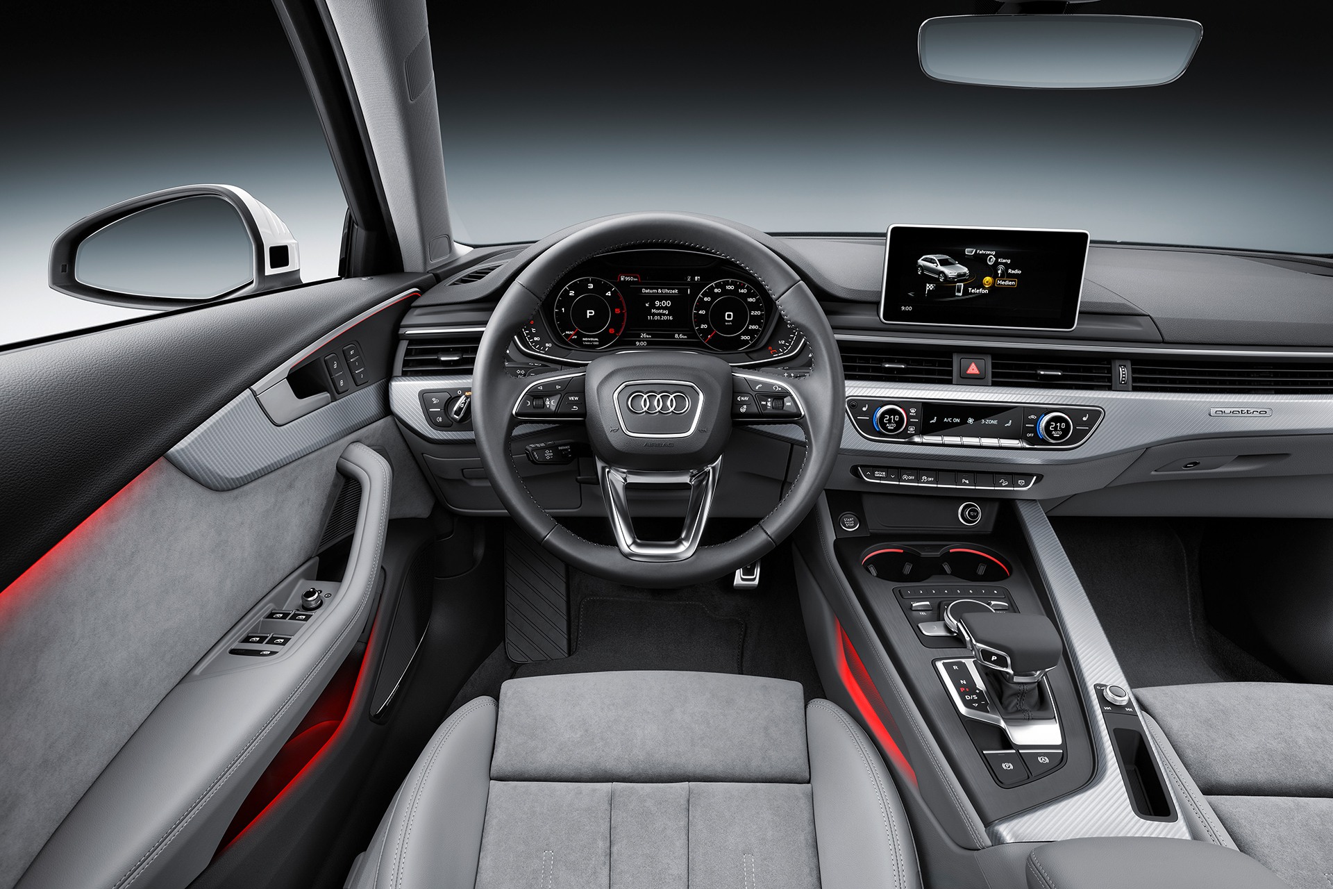 Audi a4 allroad quattro a4 off road ready en route gen ve for Lederen interieur audi a4