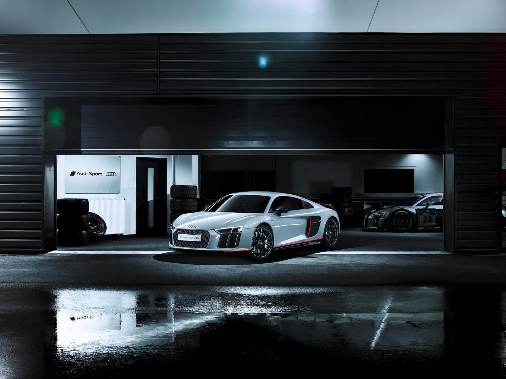 Audi R8 V10 selection 24h - 2016 - front - photo showroom