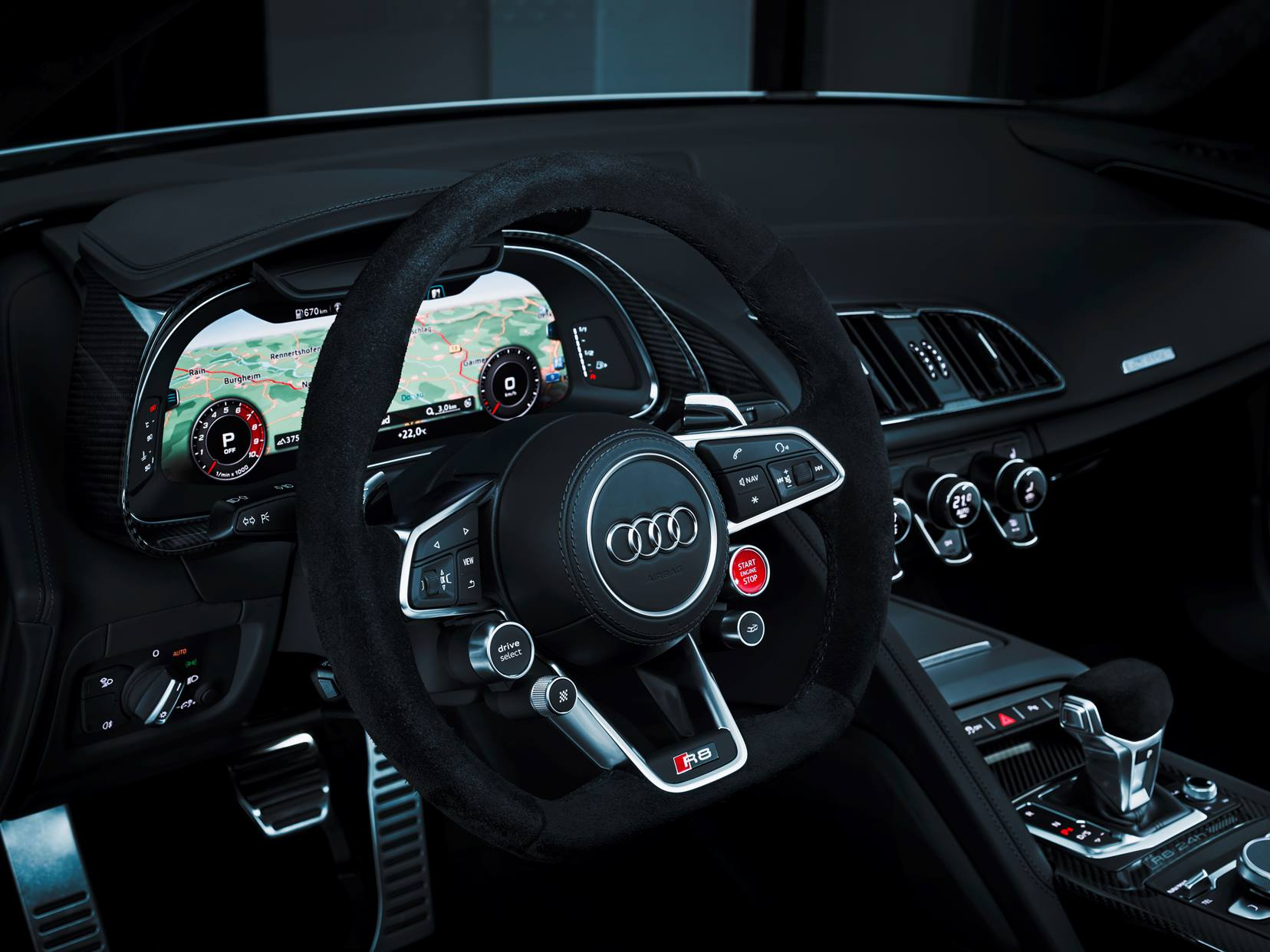 Audi R8 V10 selection 24h - 2016 - steering wheel / volant