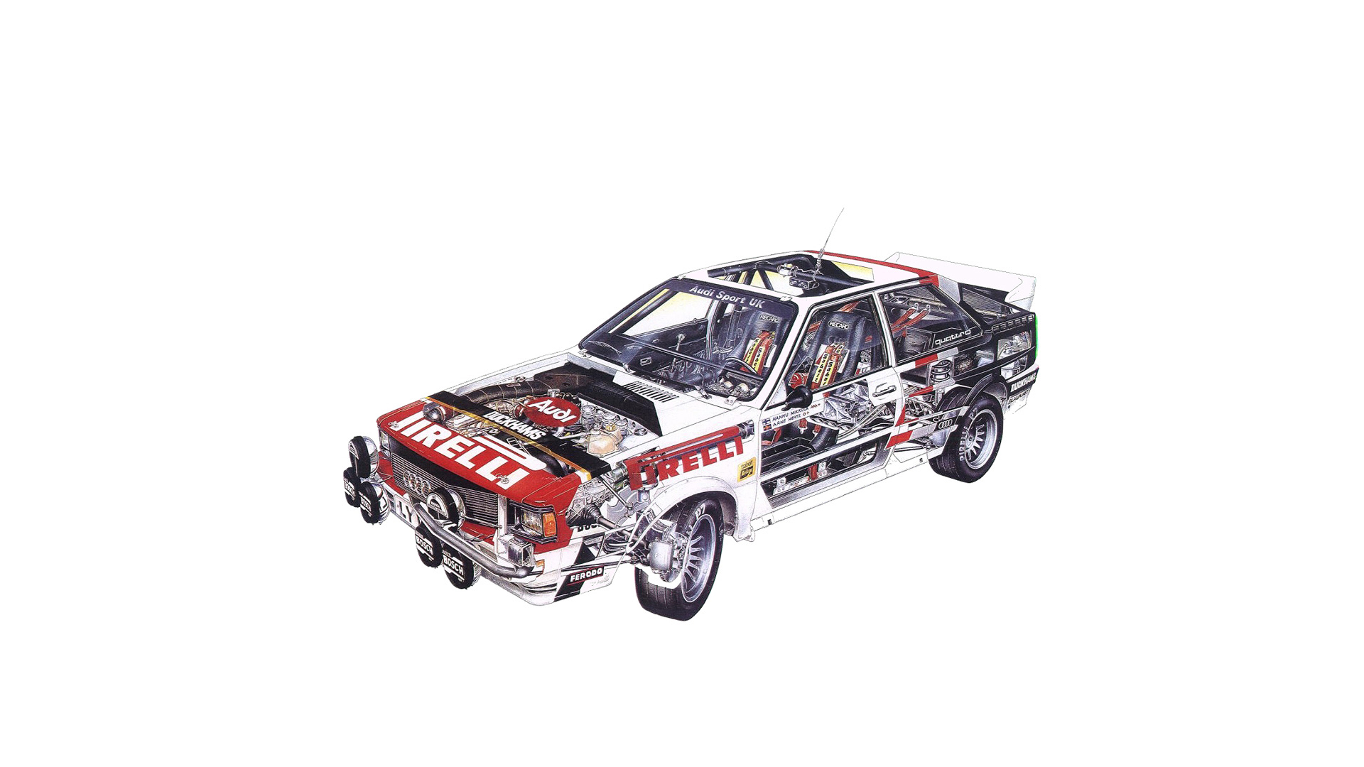 Audi Sport quattro - FIA Group 4 Rally Car - 1981 - 1982 - drivetrain
