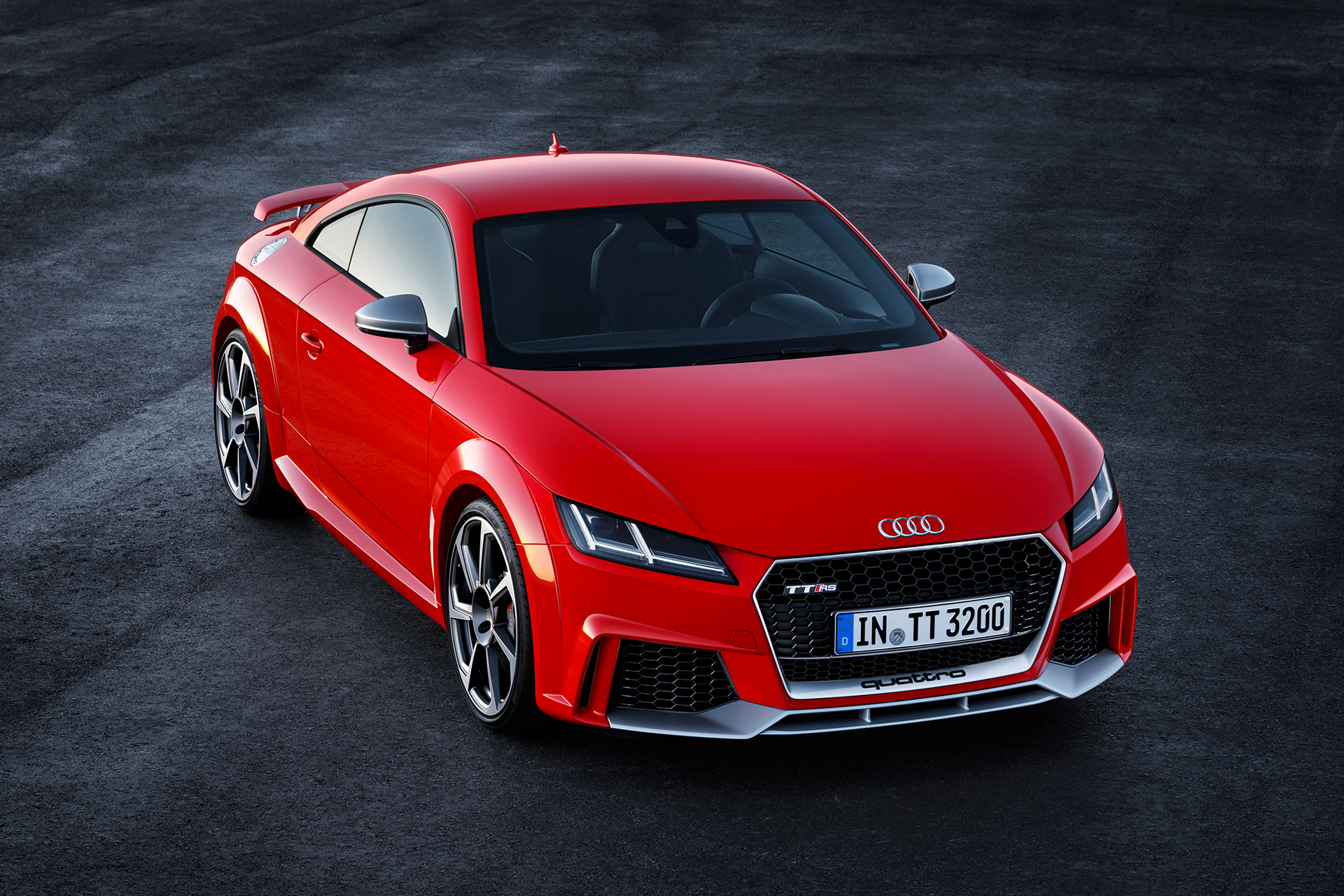 Audi TT RS coupe - 2016 - top front side-face / toit profil avant