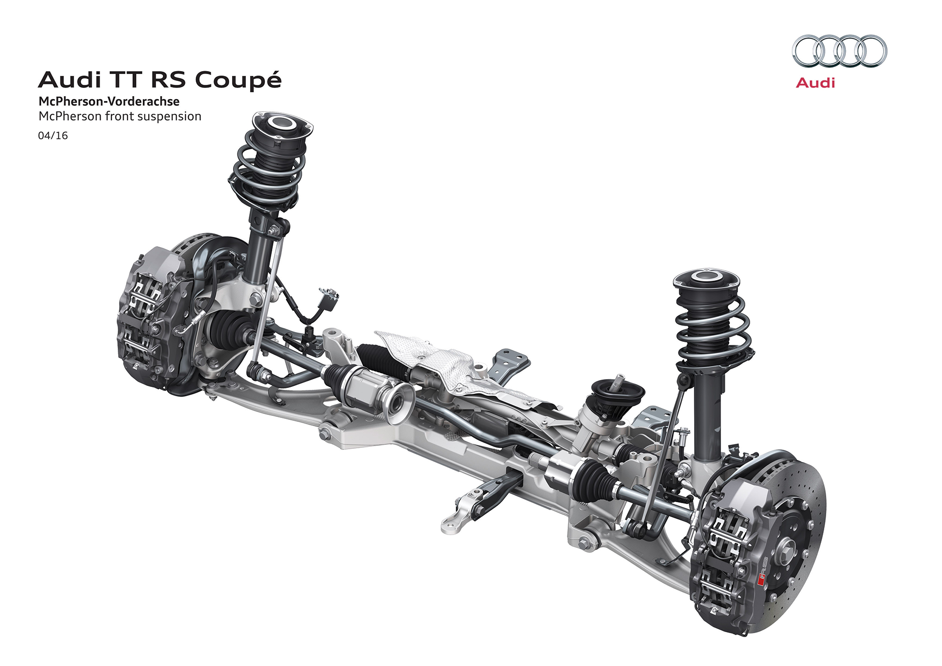 Audi TT RS coupe - 2016 - front suspension