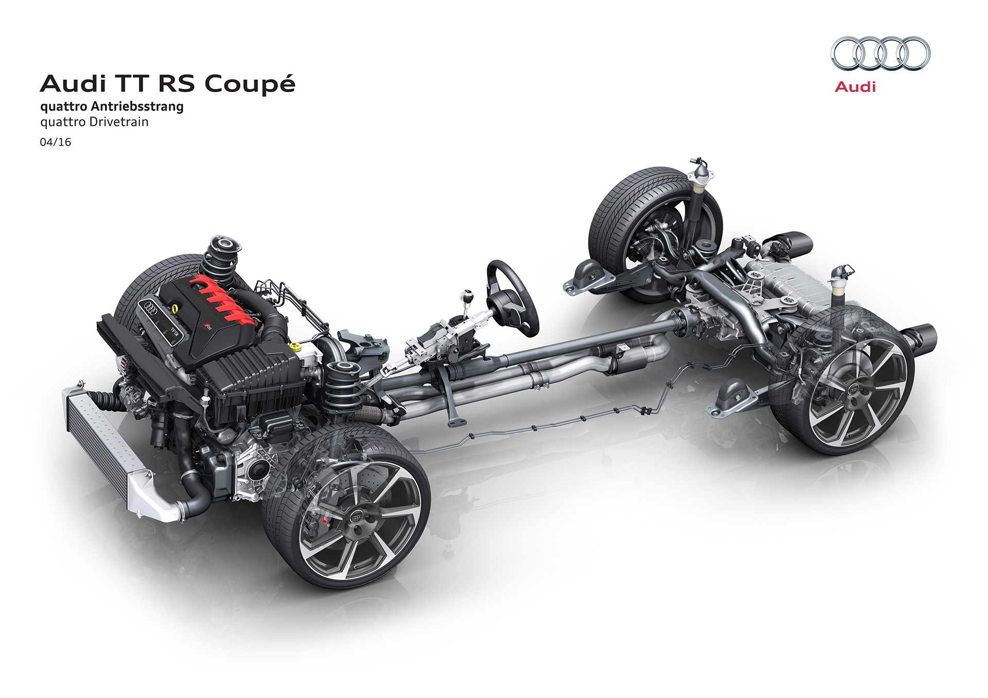Audi TT RS coupe - 2016 - quattro drivetrain engine