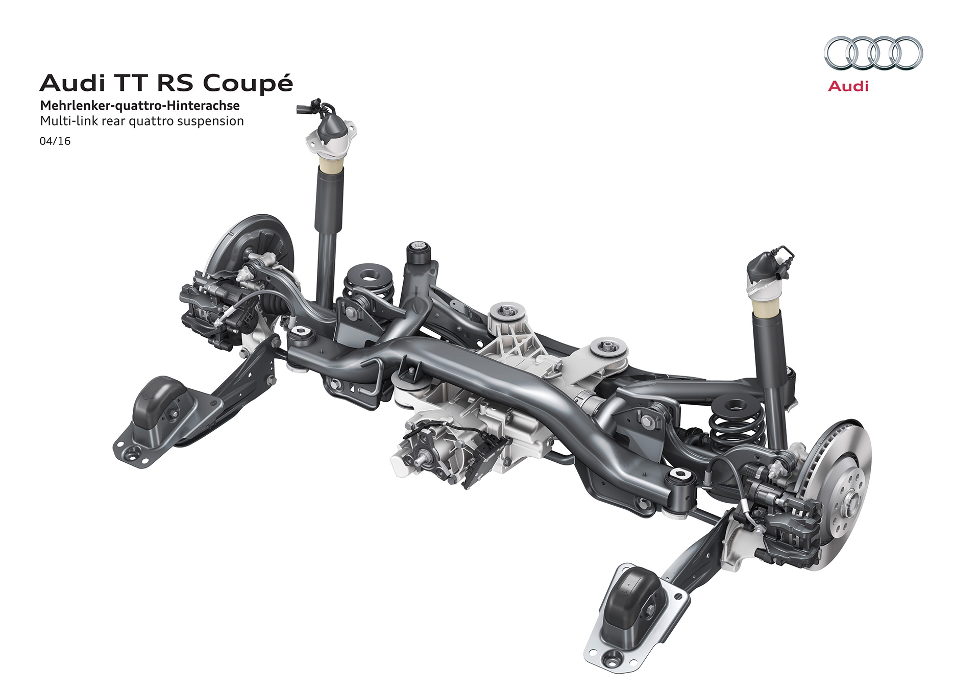 Audi TT RS coupe - 2016 - rear suspension