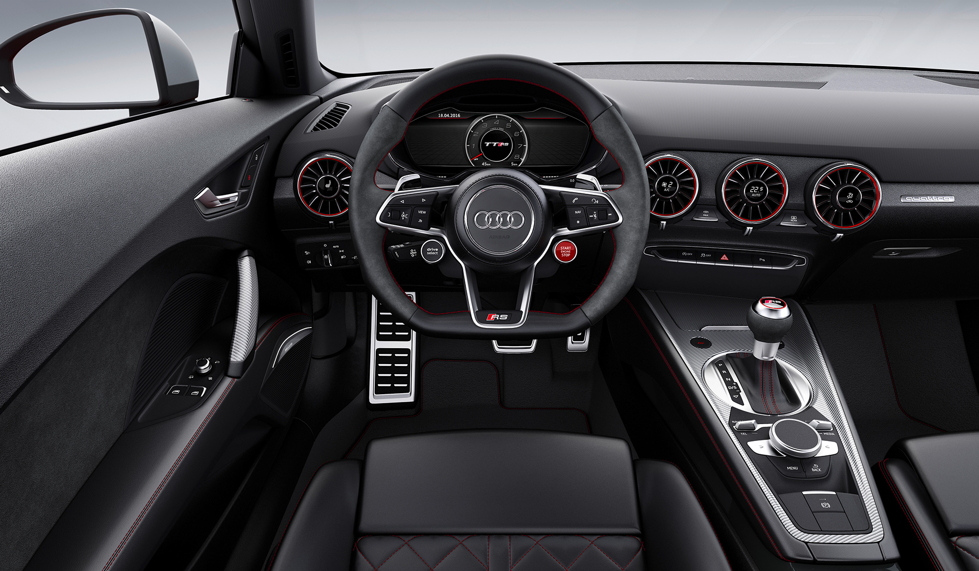 Audi TT RS coupe - 2016 - steering wheel / volant