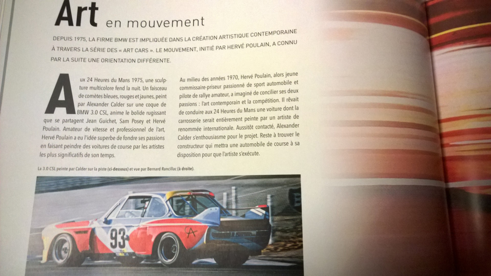BMW 100 ans de design - Art Cars - BMW - archive Grand Tourisme SAS