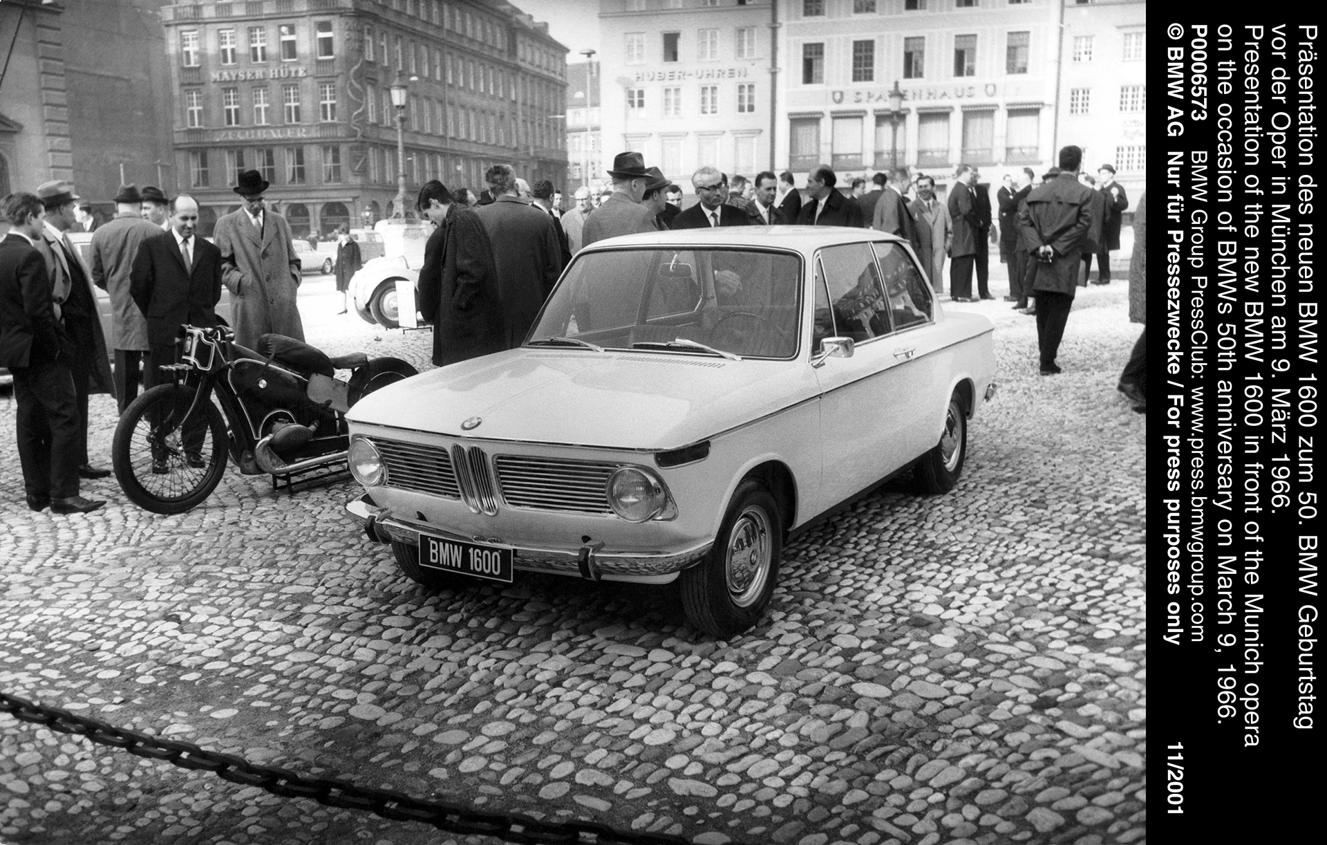BMW 1600 - Munich opera - BMWs 50th anniversary - 1966