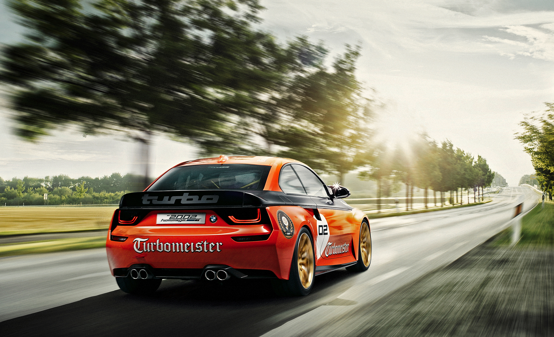 BMW 2002 Hommage Turbomeister Concept - 2016 - rear / arrière - on road