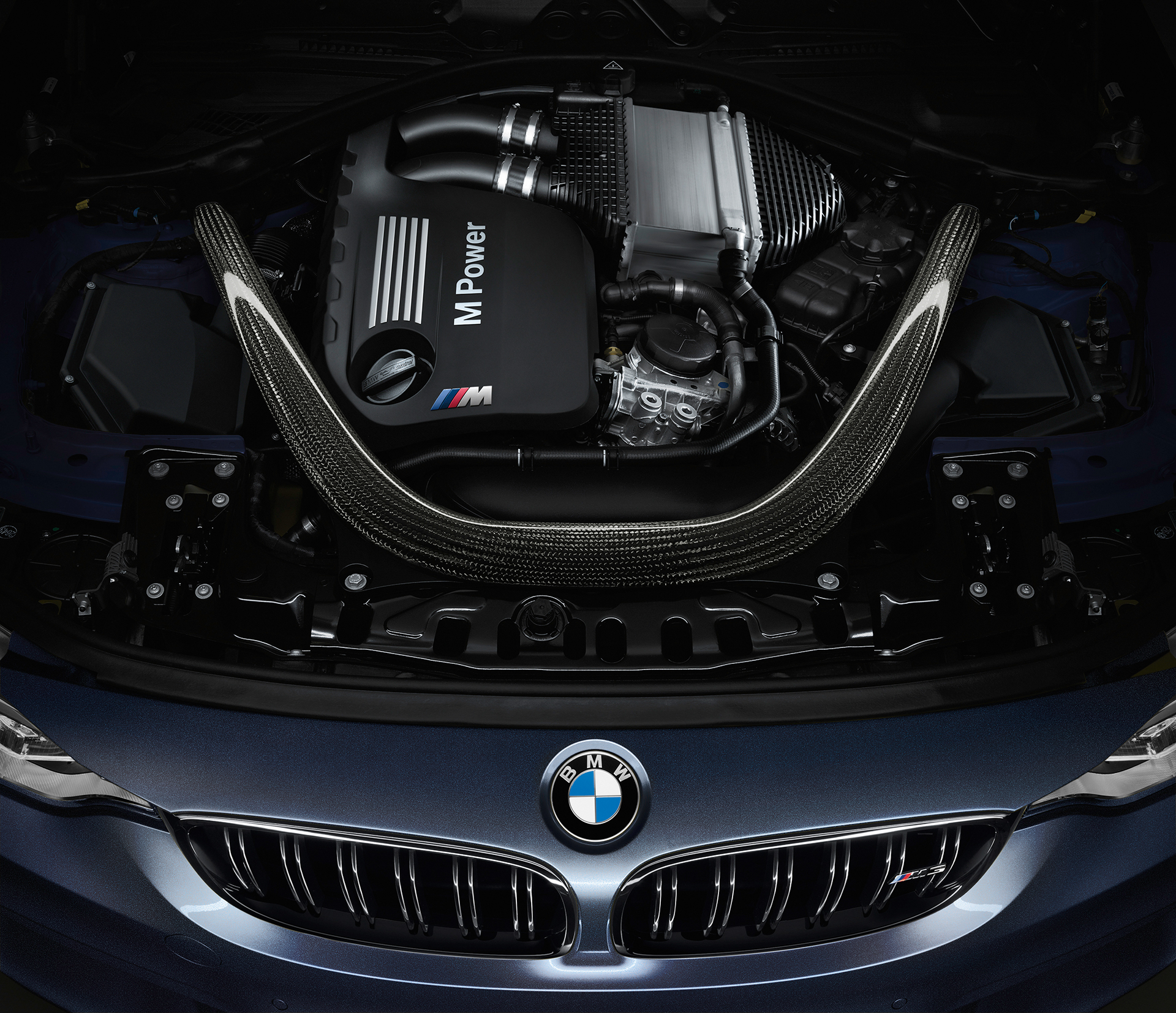 BMW M3 - 30 Jahre Edition - 2016 - engine under the hood / sous le capot moteur