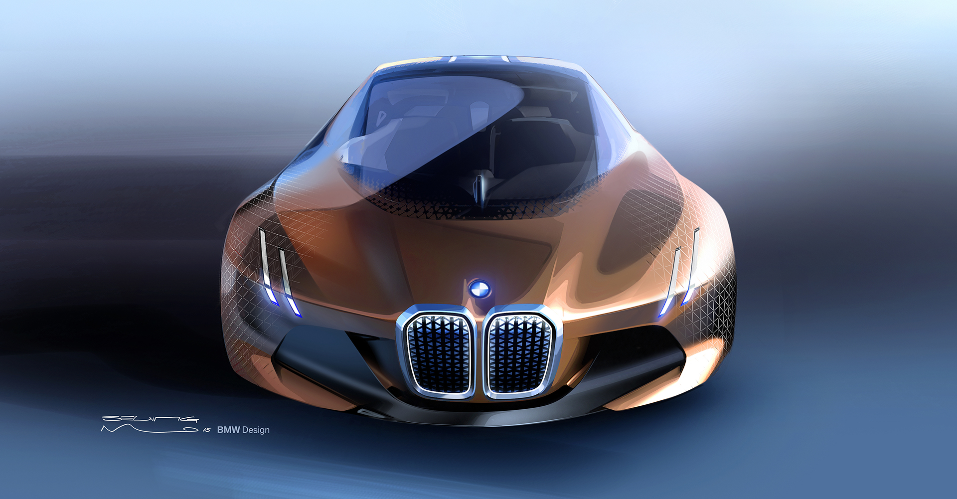 BMW VISION NEXT 100 - sketch - front / avant