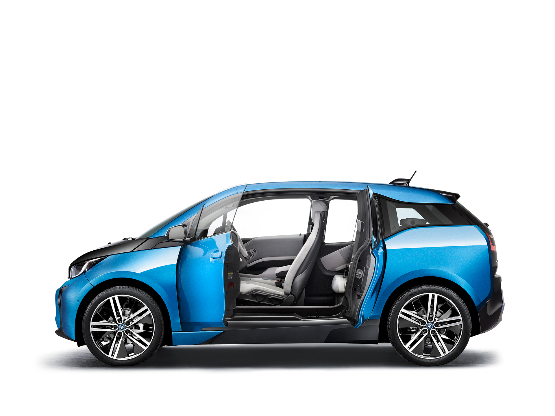 BMW i3 94ah - 2017 - side-face / profil - open doors / portes ouvertes