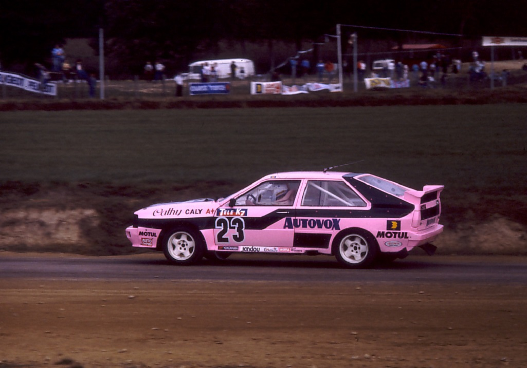 Caty Caly -  Audi Quattro groupe B - 1987 Rallycross Loheac - photo Thierry Le Bras