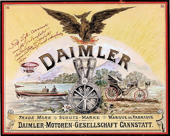 Daimler Motoren Gesellschaft - Cannstatt - document via Daimler AG