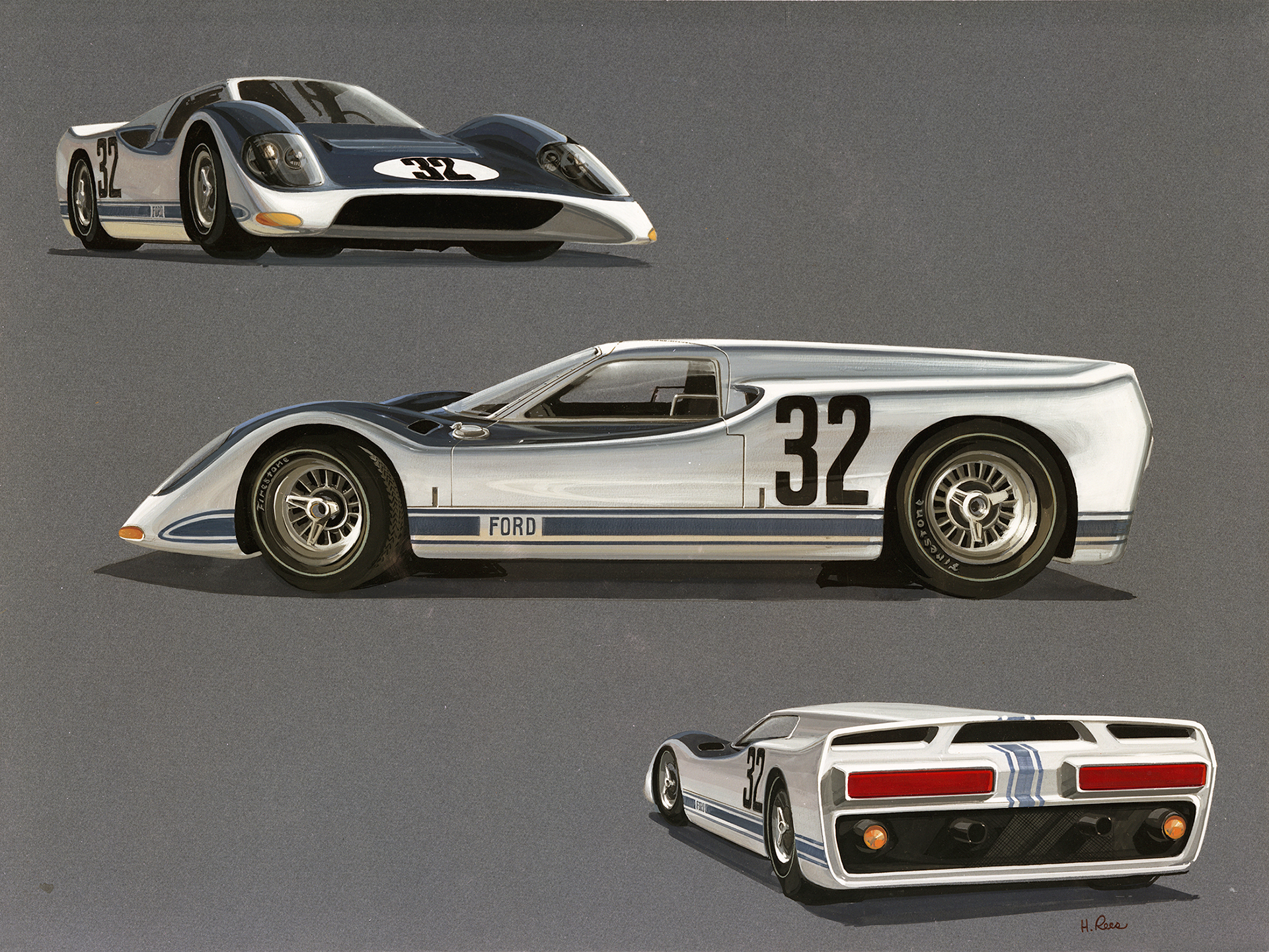 Ford GT - 1965 car rendering