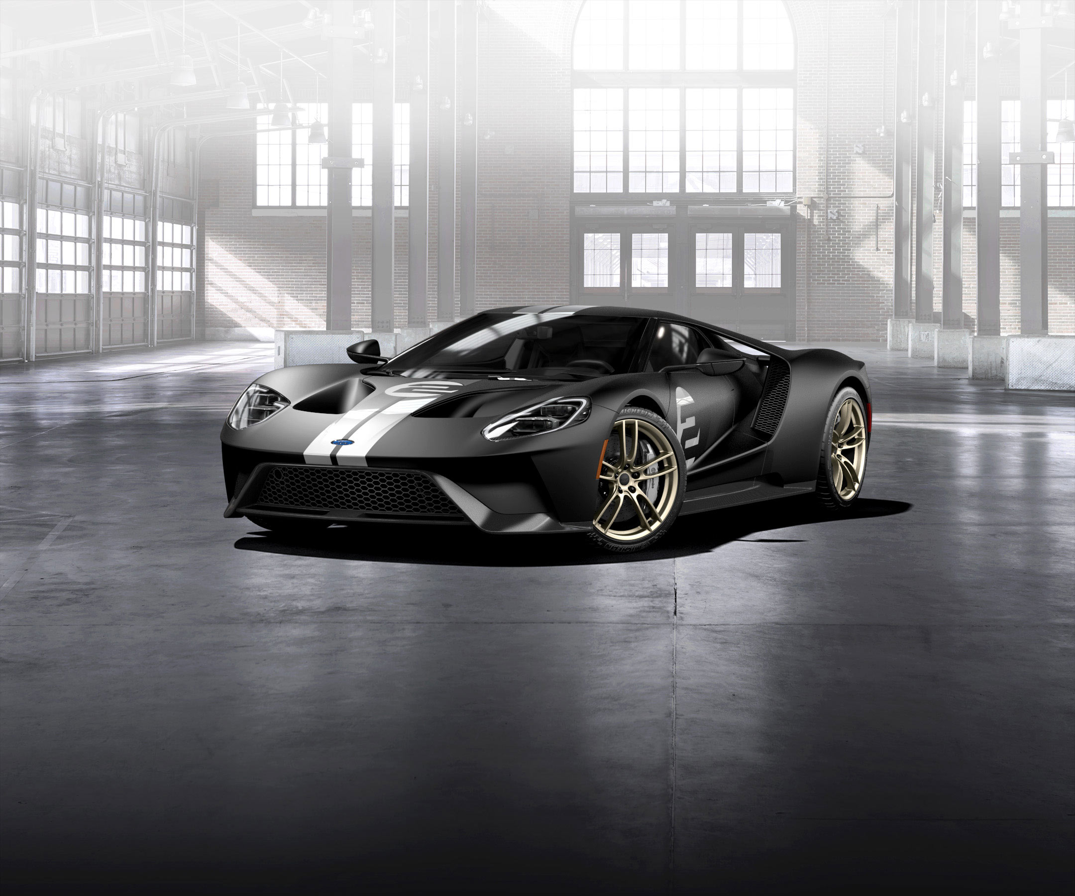 Ford GT 2016 - livery 1966 Heritage Edition - front side-face / profil avant