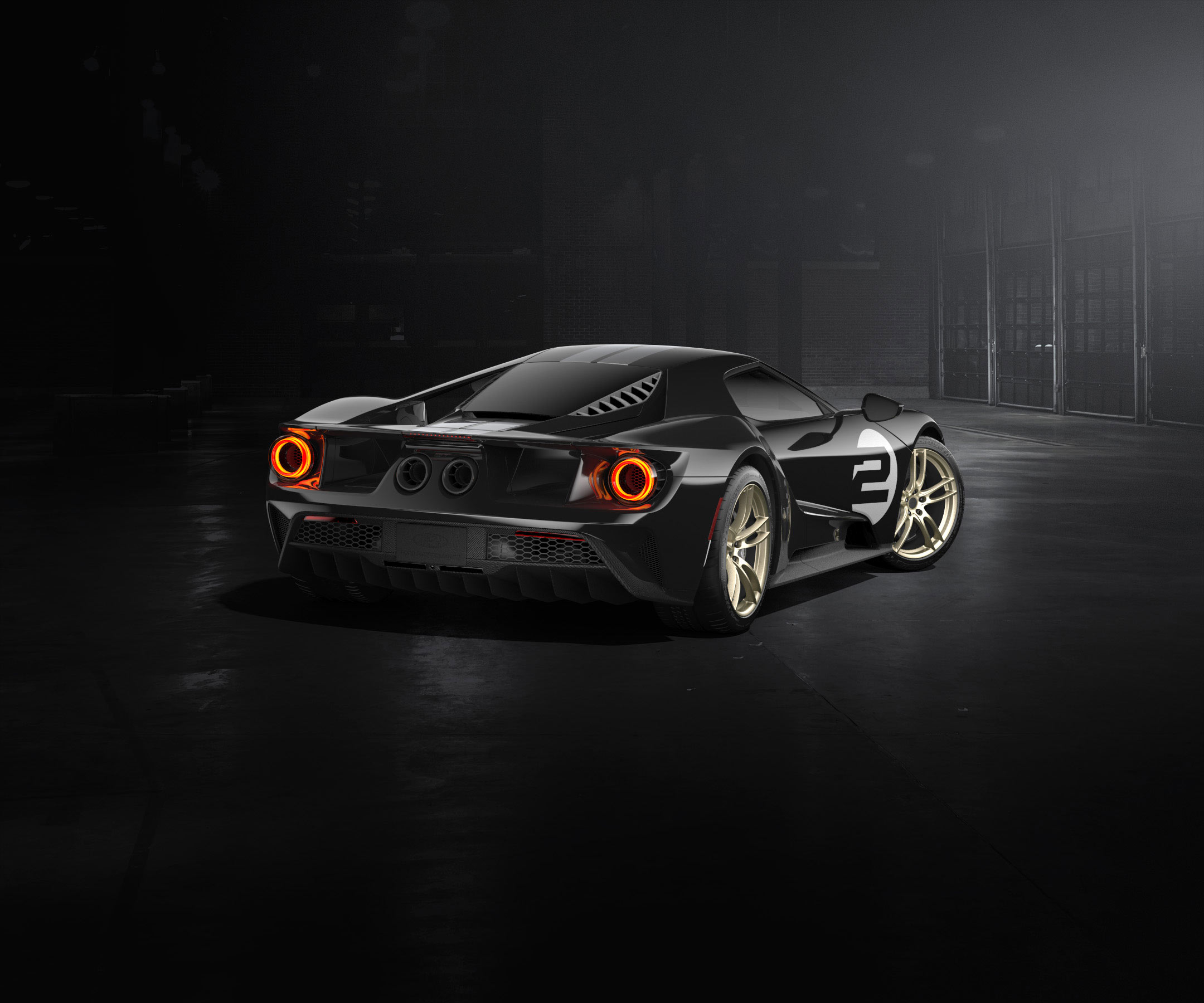 Ford GT 2016 - livery 1966 Heritage Edition - light rear