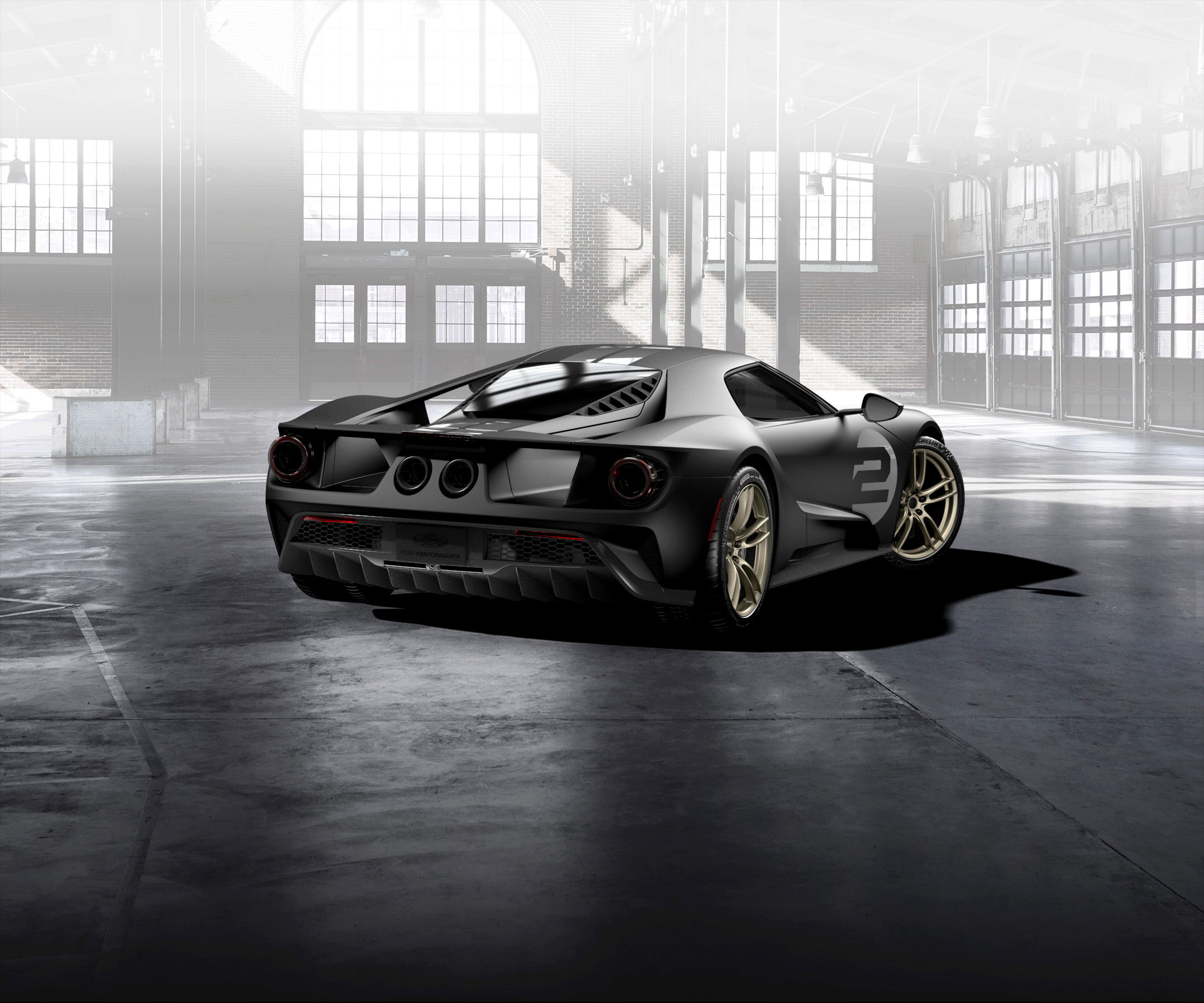 Ford GT 2016 - livery 1966 Heritage Edition - rear / arrière