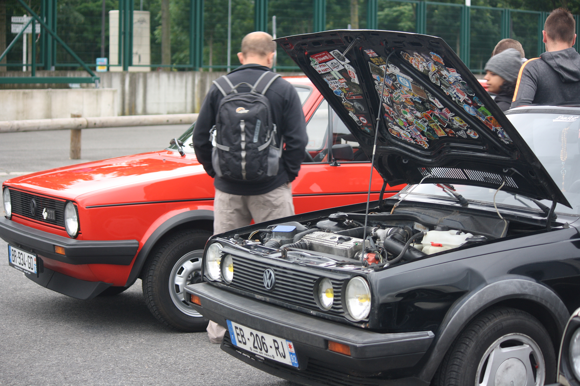 Golf Mk1 - under the hood - Youngtimers Meeting - 2016 - photo Fiona Rodrigues