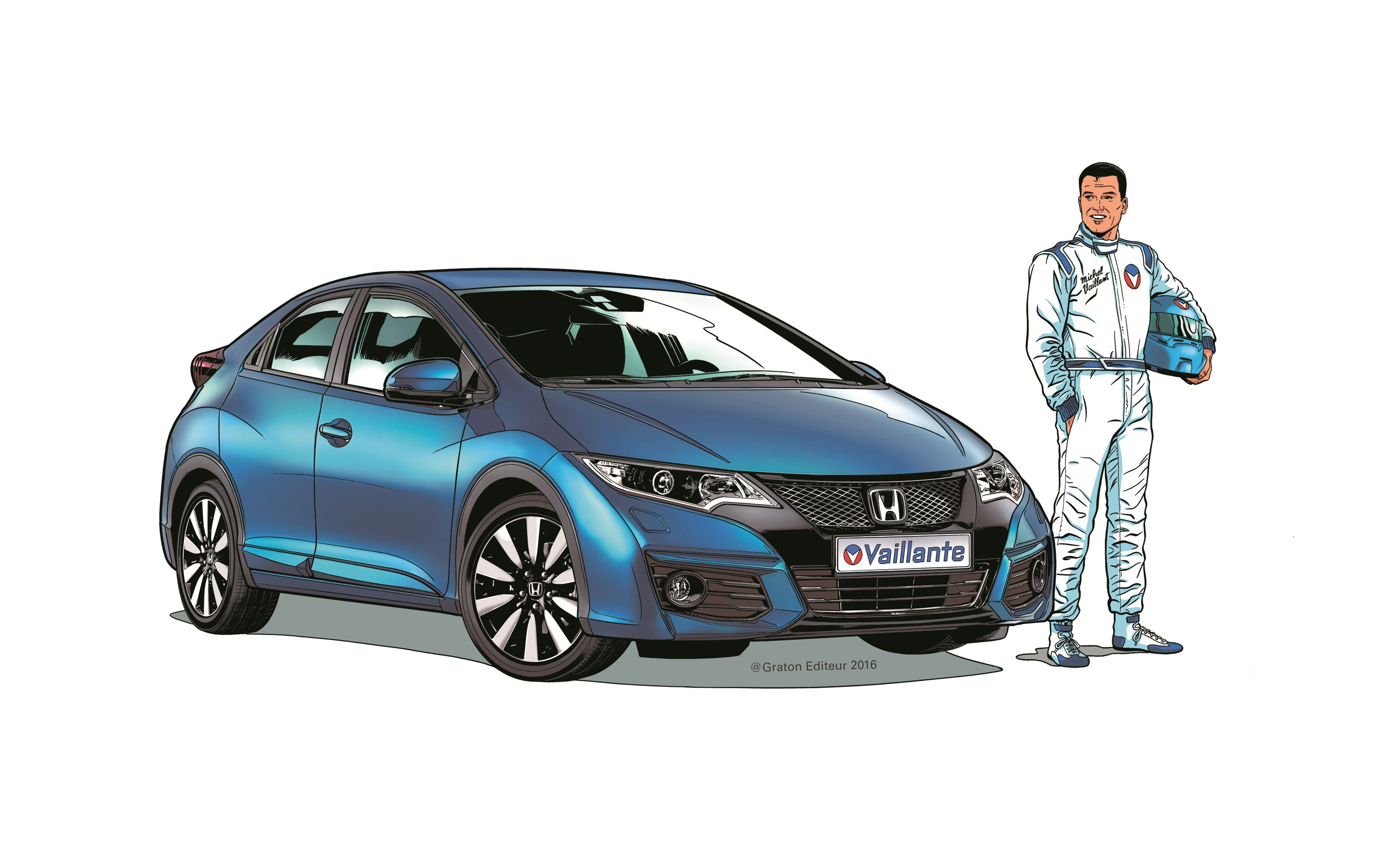 Honda Civic Vaillante - 2016 - front - drawing